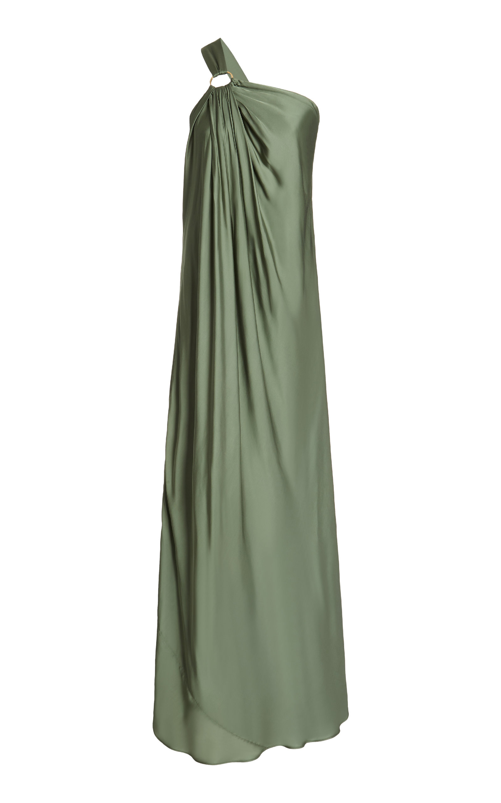 Buy Cult Gaia Theodora One-Shoulder Satin Maxi Dress online, shop Cult Gaia at the best price