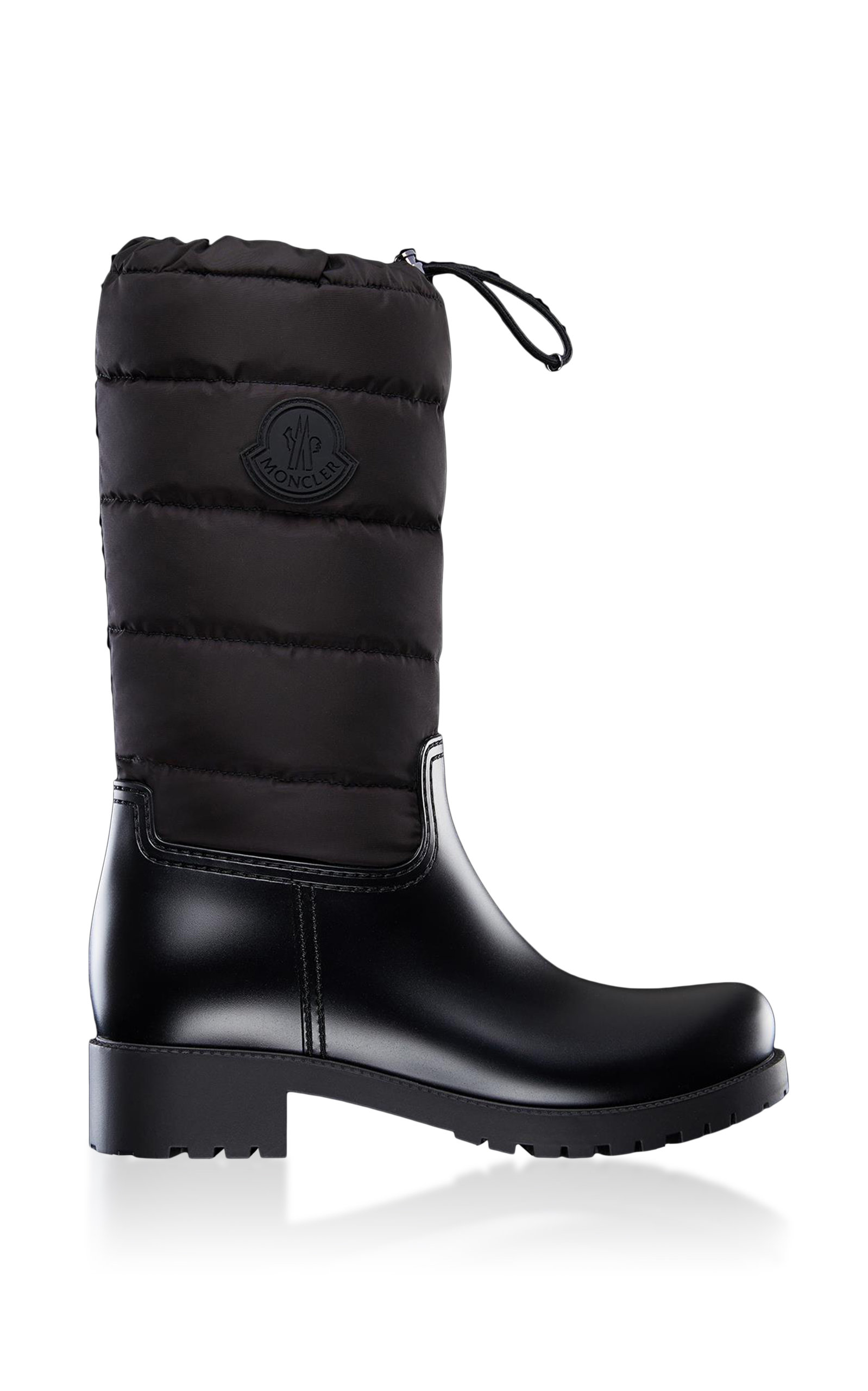 Moncler Boots Ginette Leather Puffer Boots