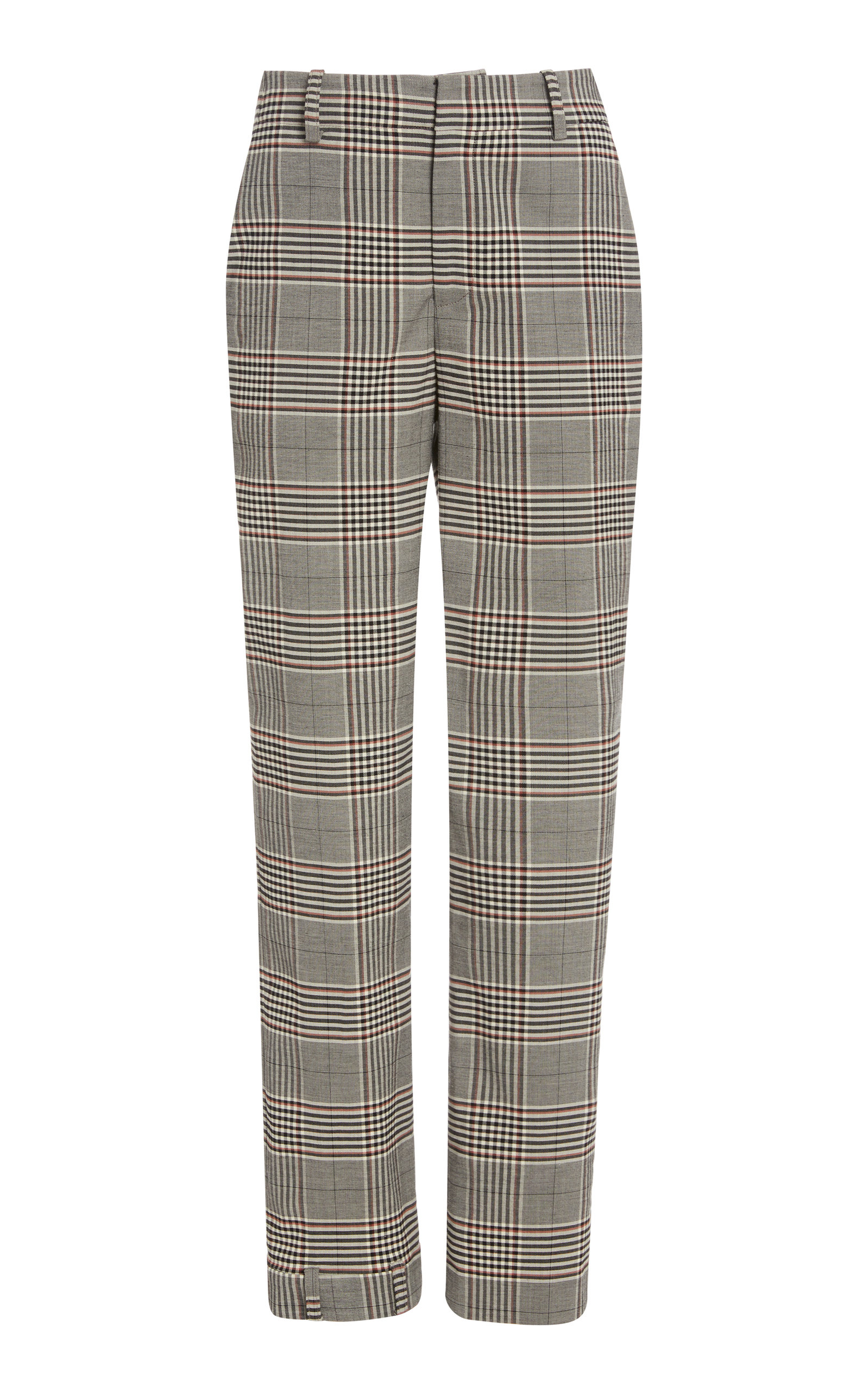 Monse PLAID UPSIDE DOWN SKINNY LEG PANTS