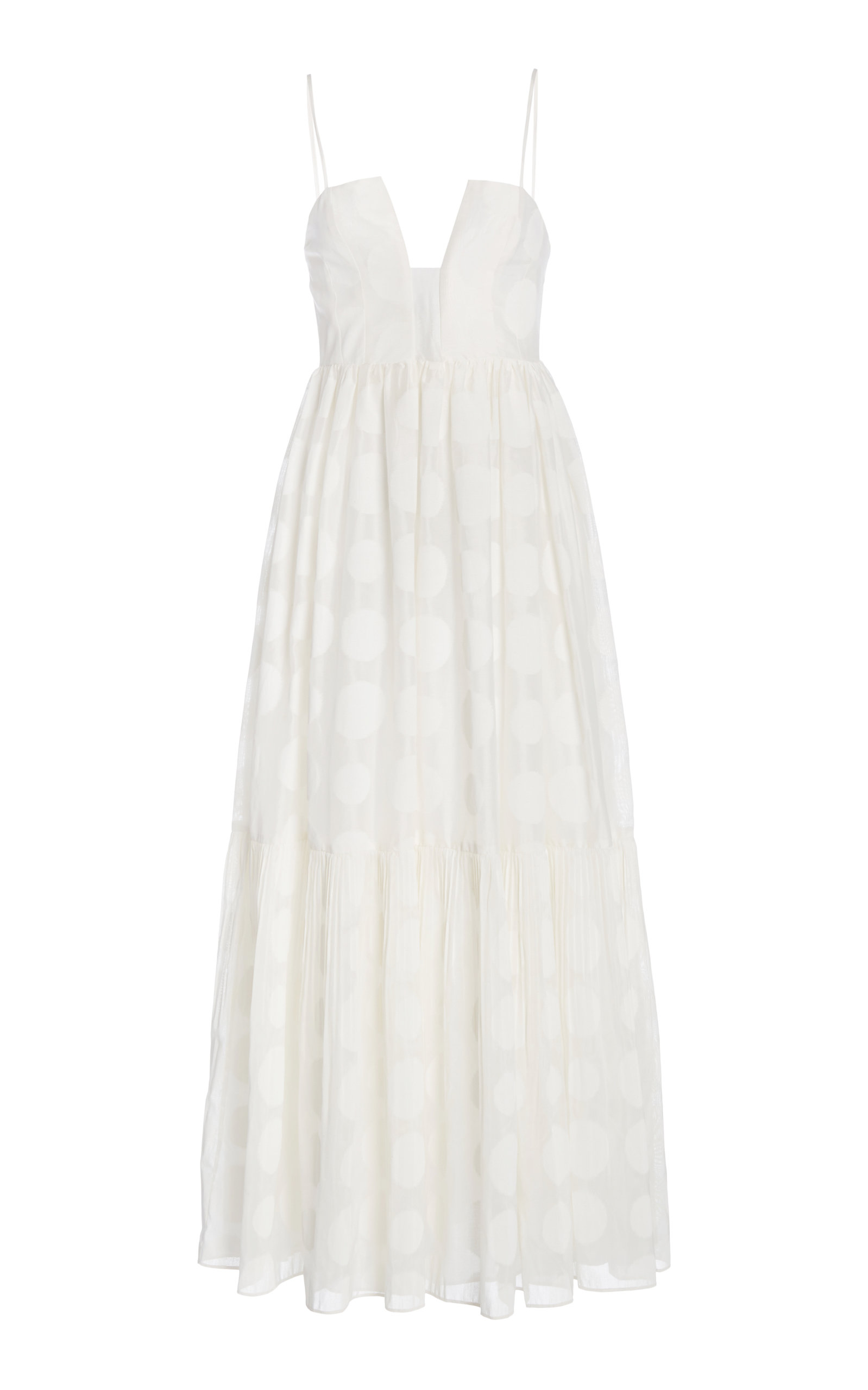 Buy Ulla Johnson Aimie Polka-Dot Cotton-Silk Dress online, shop Ulla Johnson at the best price