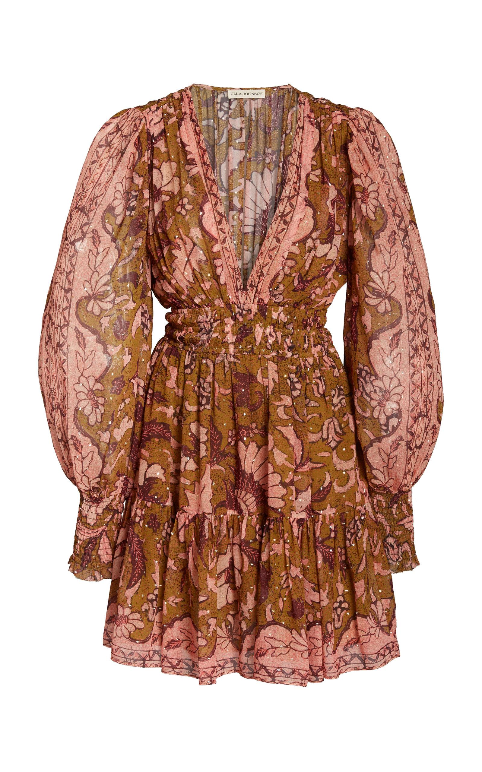 Buy Ulla Johnson Rosetta Printed Silk-Blend Dress online, shop Ulla Johnson at the best price