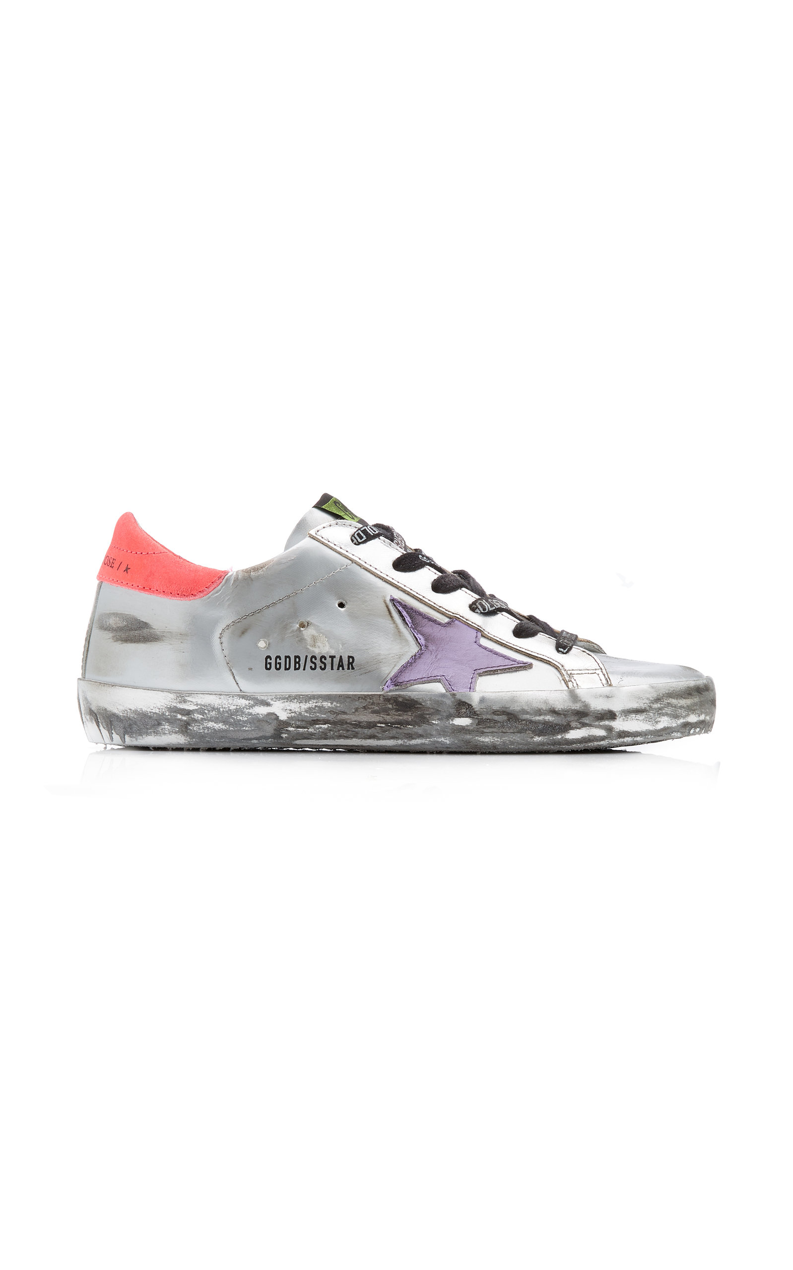 Golden Goose - Women's Superstar Metallic Patent Leather Sneakers  - Silver - Moda Operandi