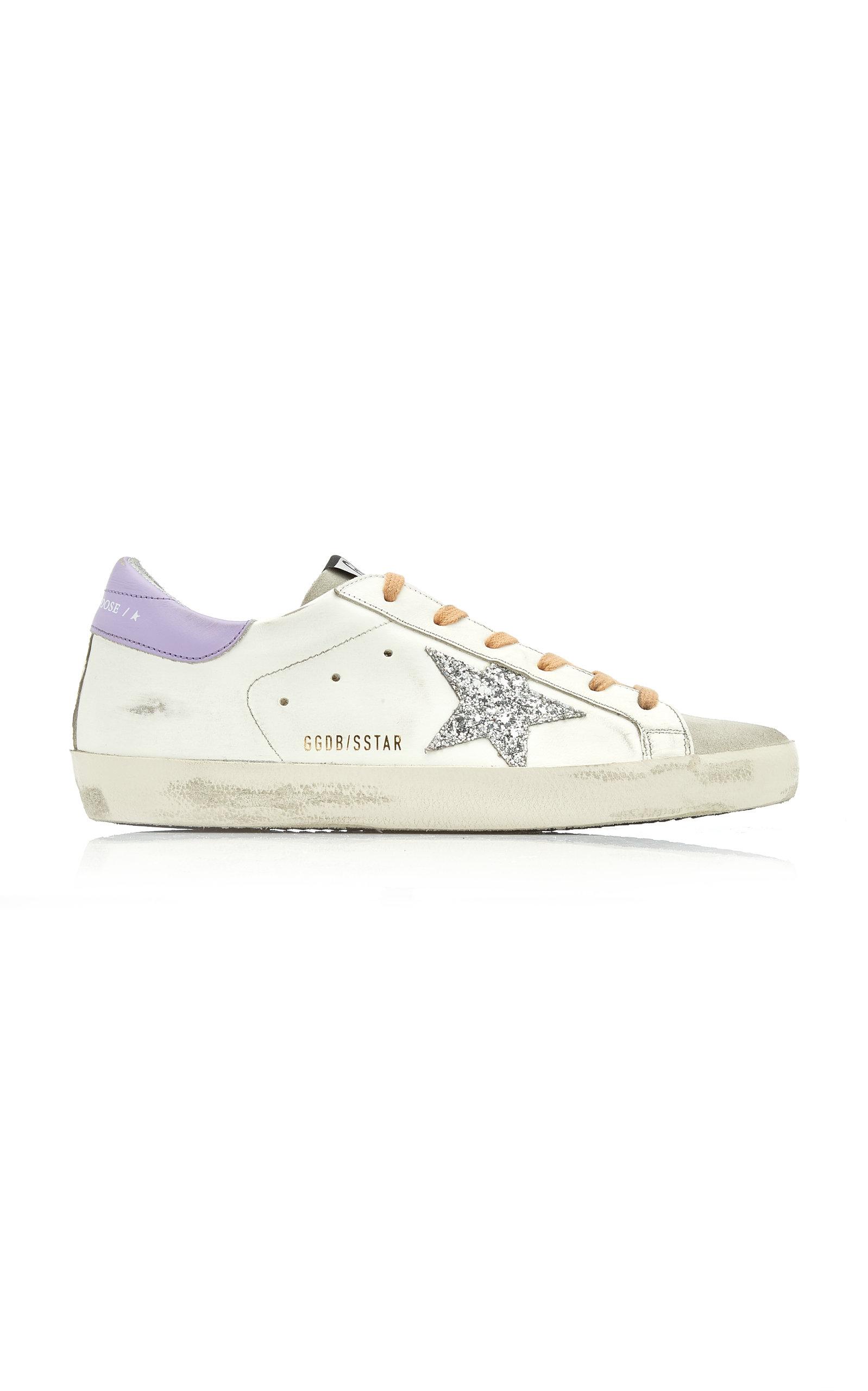 Golden Goose - Women's Superstar Glitter-Embellished Leather Sneakers  - Multi - Moda Operandi