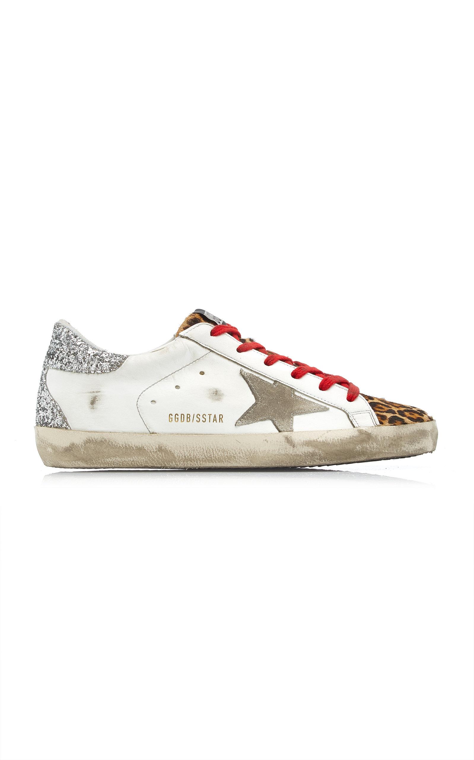 Golden Goose - Women's Superstar Suede and Leopard Leather Sneakers - Multi - Moda Operandi