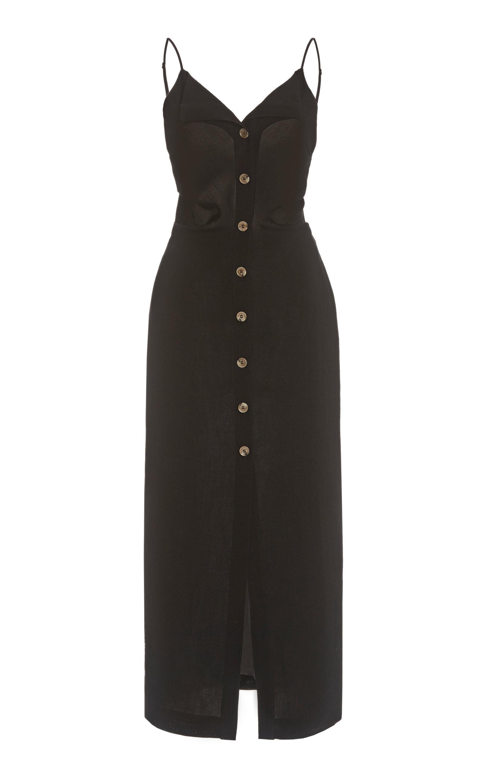 Buy Nanushka Paz Crepe Buttoned Maxi Dress online, shop Nanushka at the best price
