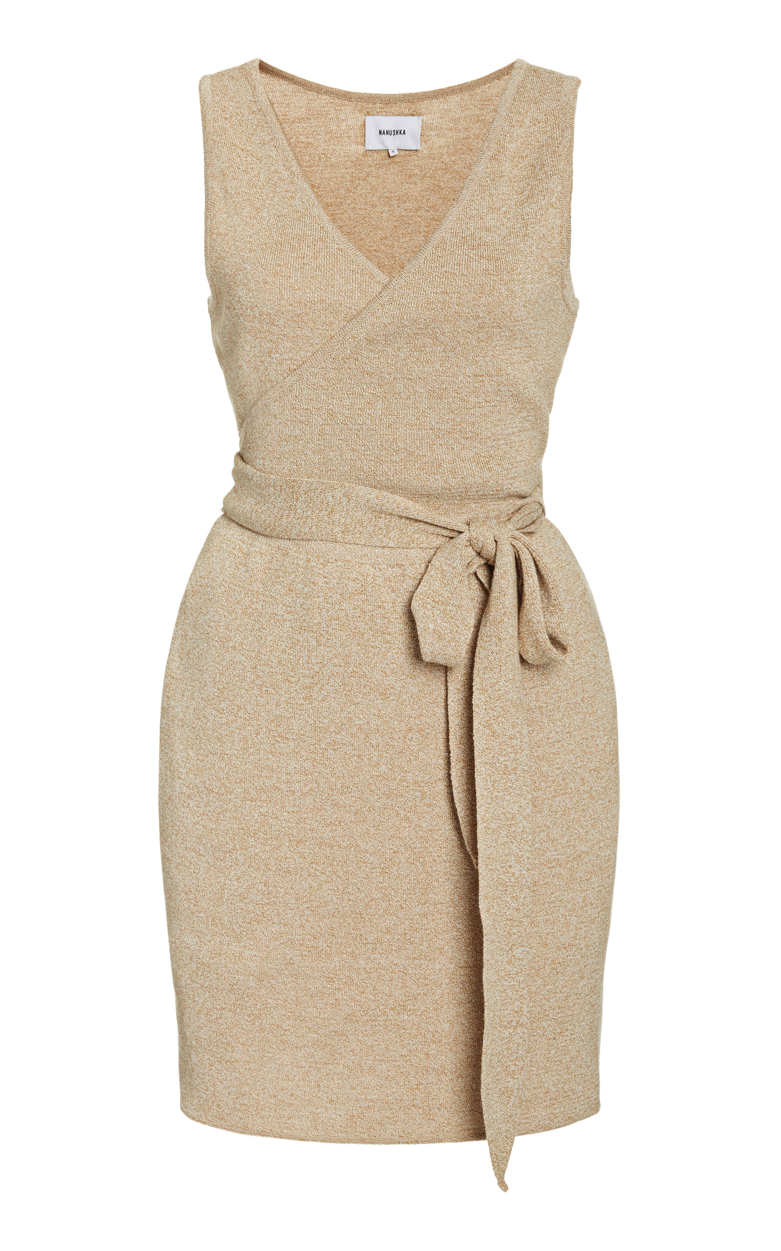 Buy Nanushka Callie Cotton-Blend Mini Wrap Dress online, shop Nanushka at the best price