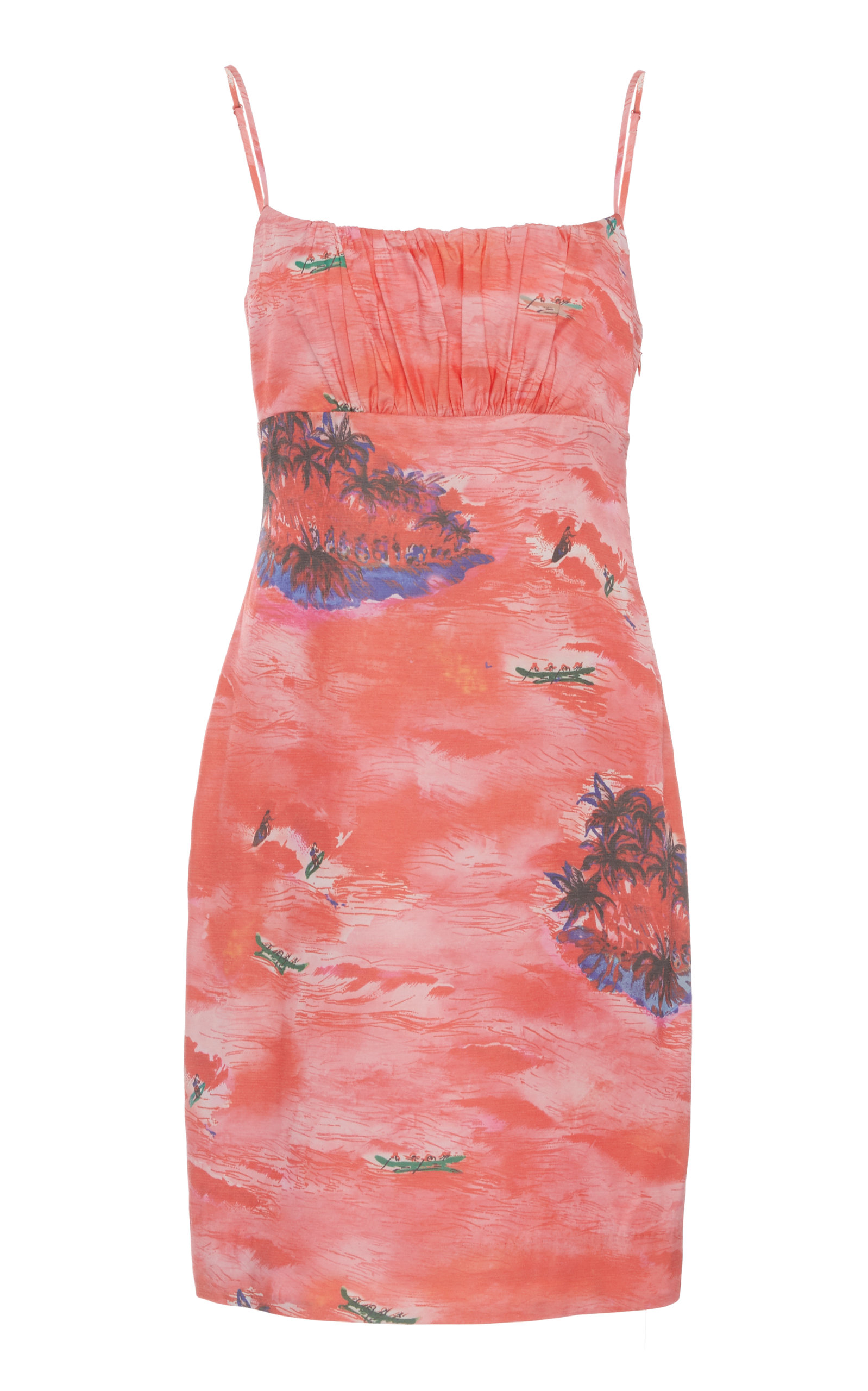 Buy Staud Bell Printed Rayon Mini Dress online, shop Staud at the best price