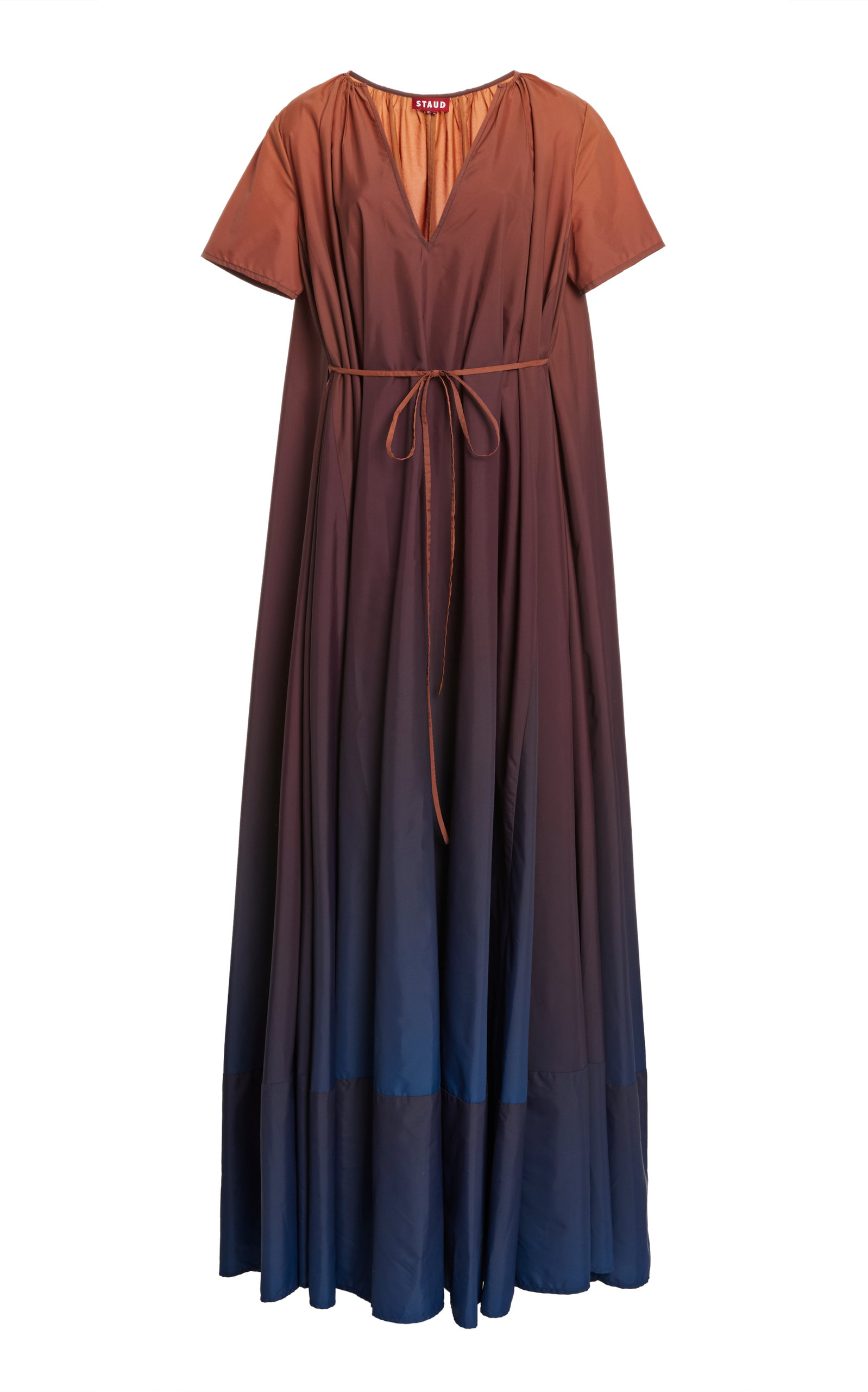 Staud KINSLEY OMBRE V-NECK MAXI DRESS