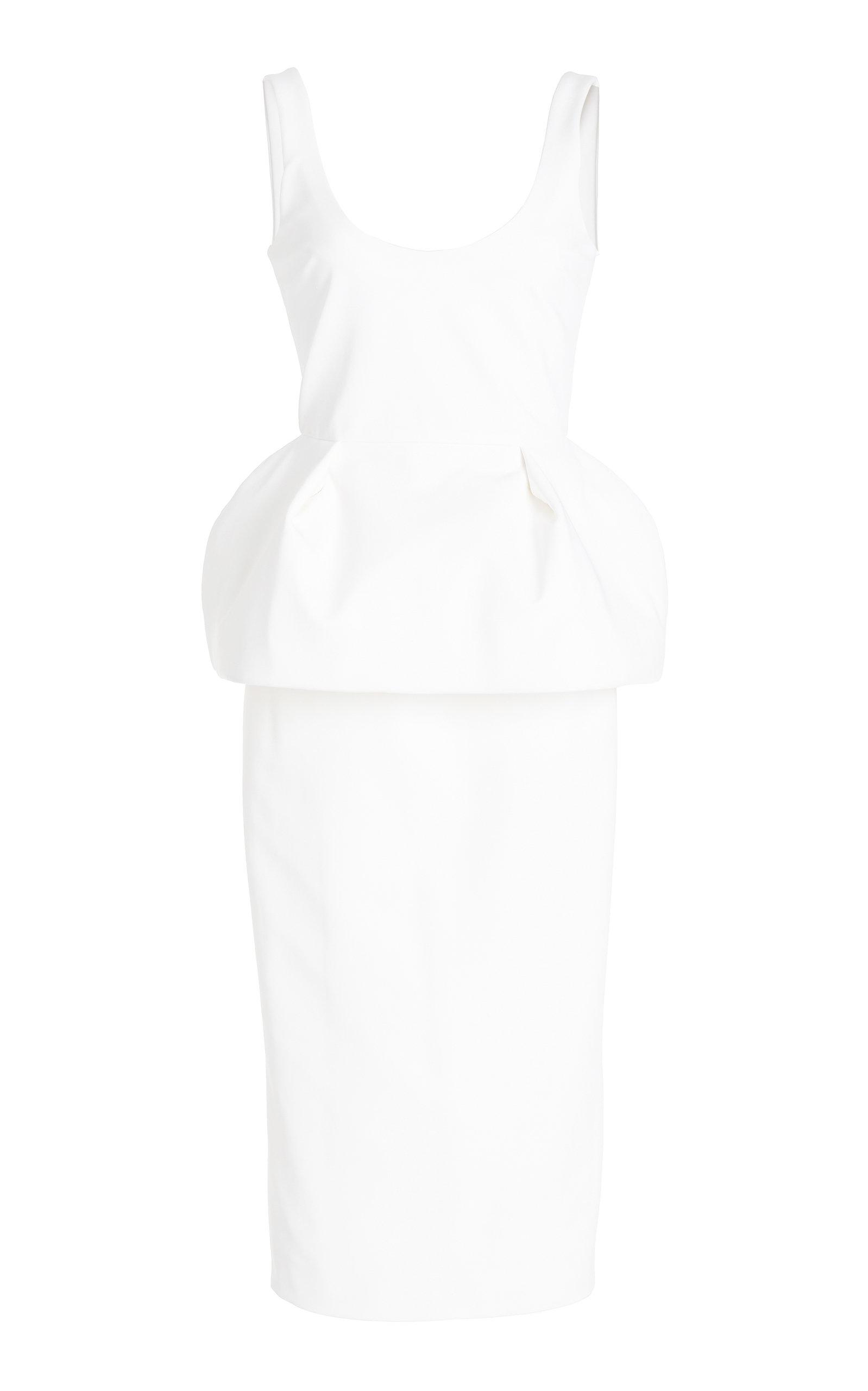 Cushnie SCOOP NECK PEPLUM DRESS