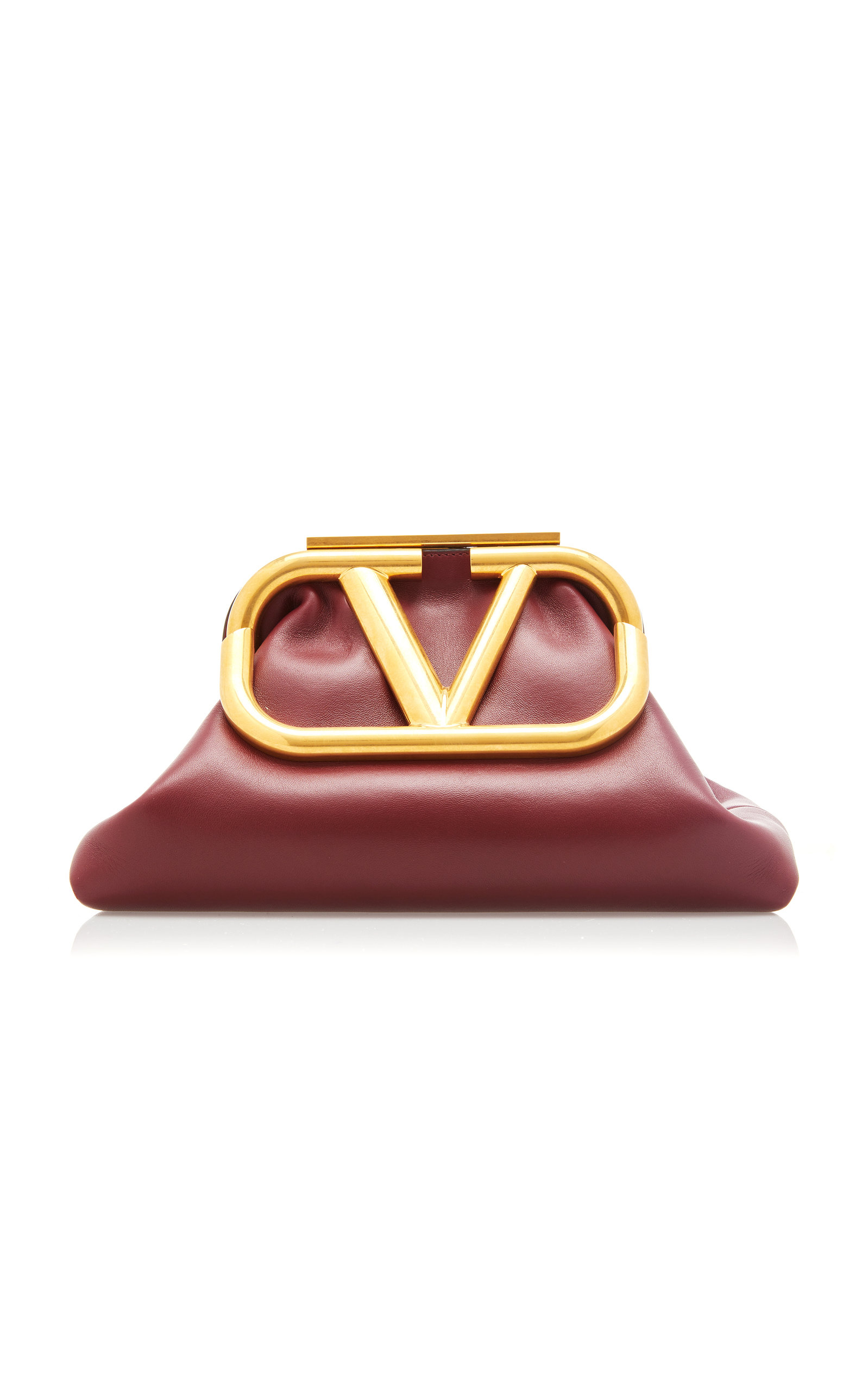 Valentino GARAVANI SUPERVEE LOGO LEATHER CLUTCH