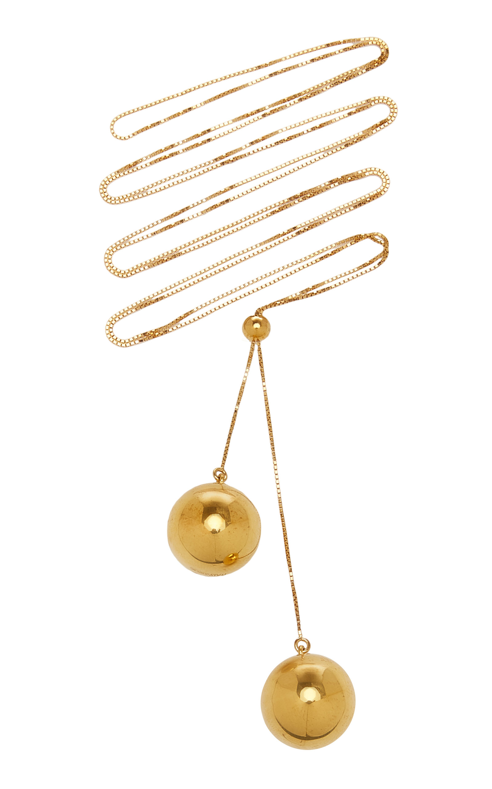 Bottega Veneta – Women's Multi Layer Metal Necklace – Gold – Moda Operandi