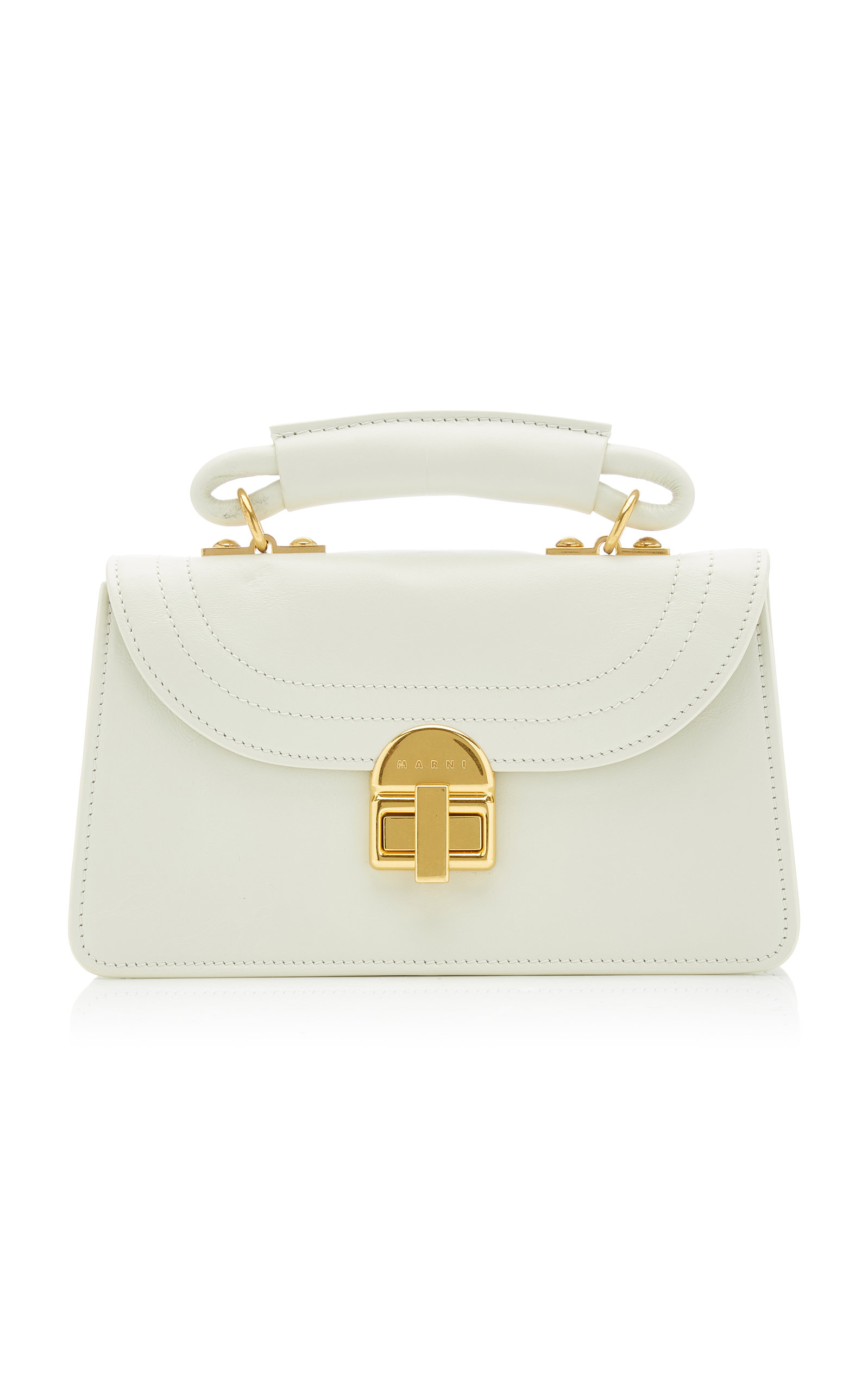 Marni JULIETTE SMALL LEATHER TOP HANDLE BAG