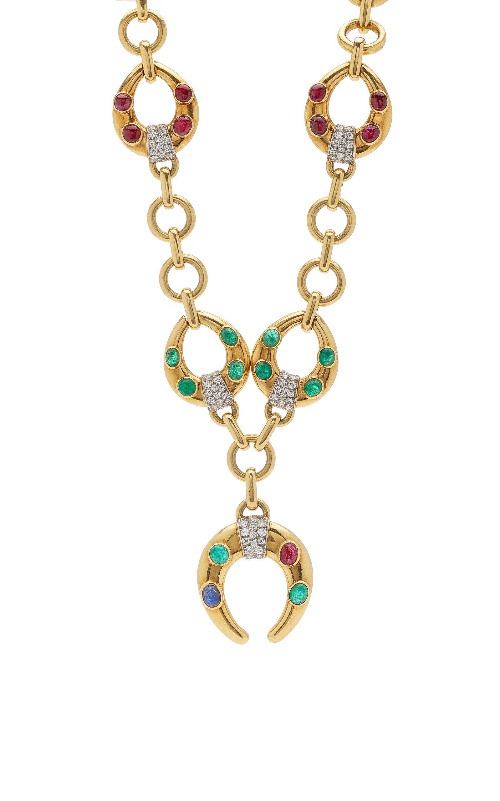 RUSSIAN CHRISTMAS HORSES Pendant Necklace Vintage Christmas Handmade Art Jewelry