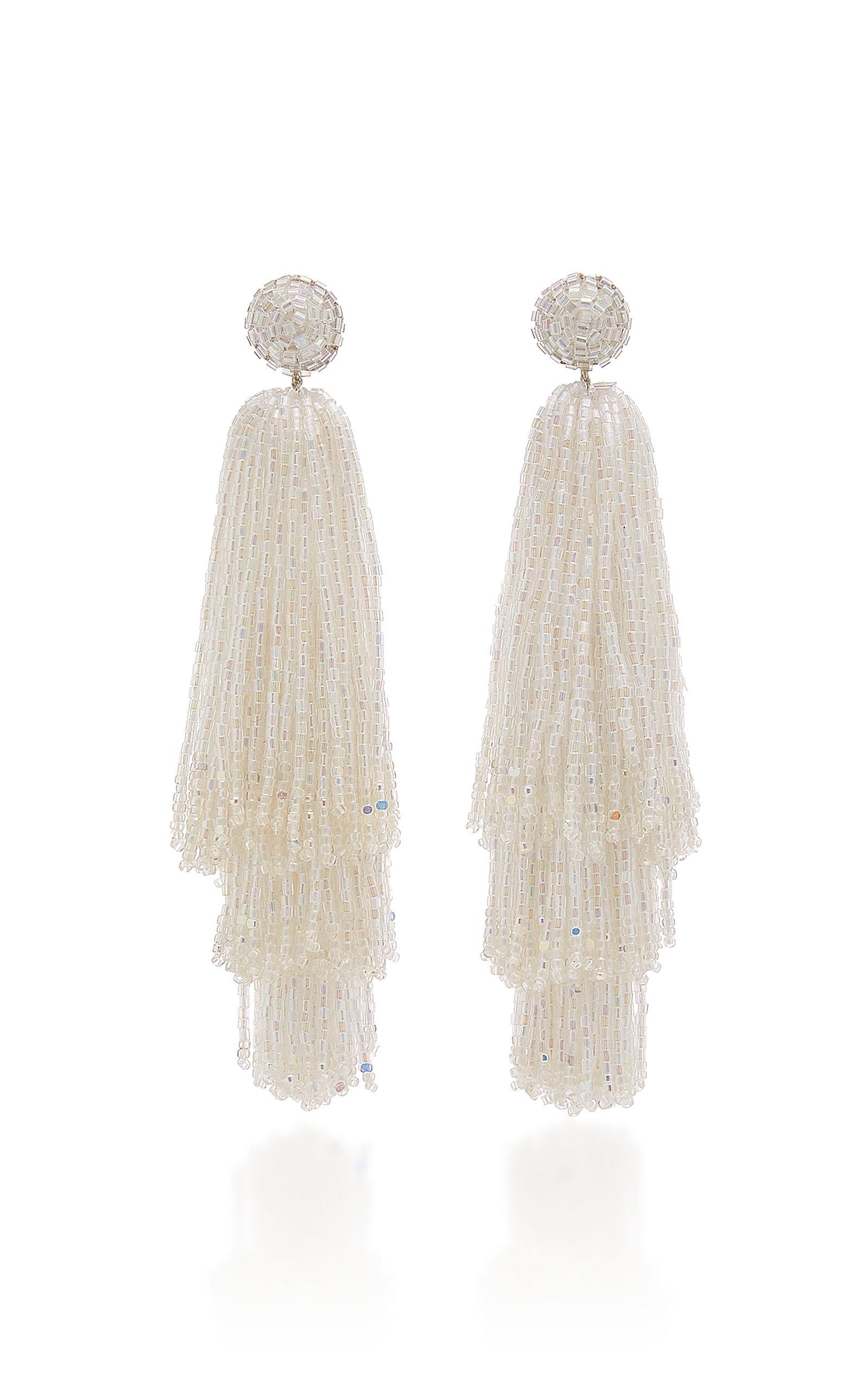 Women's Beaded Tassel Drop Earrings