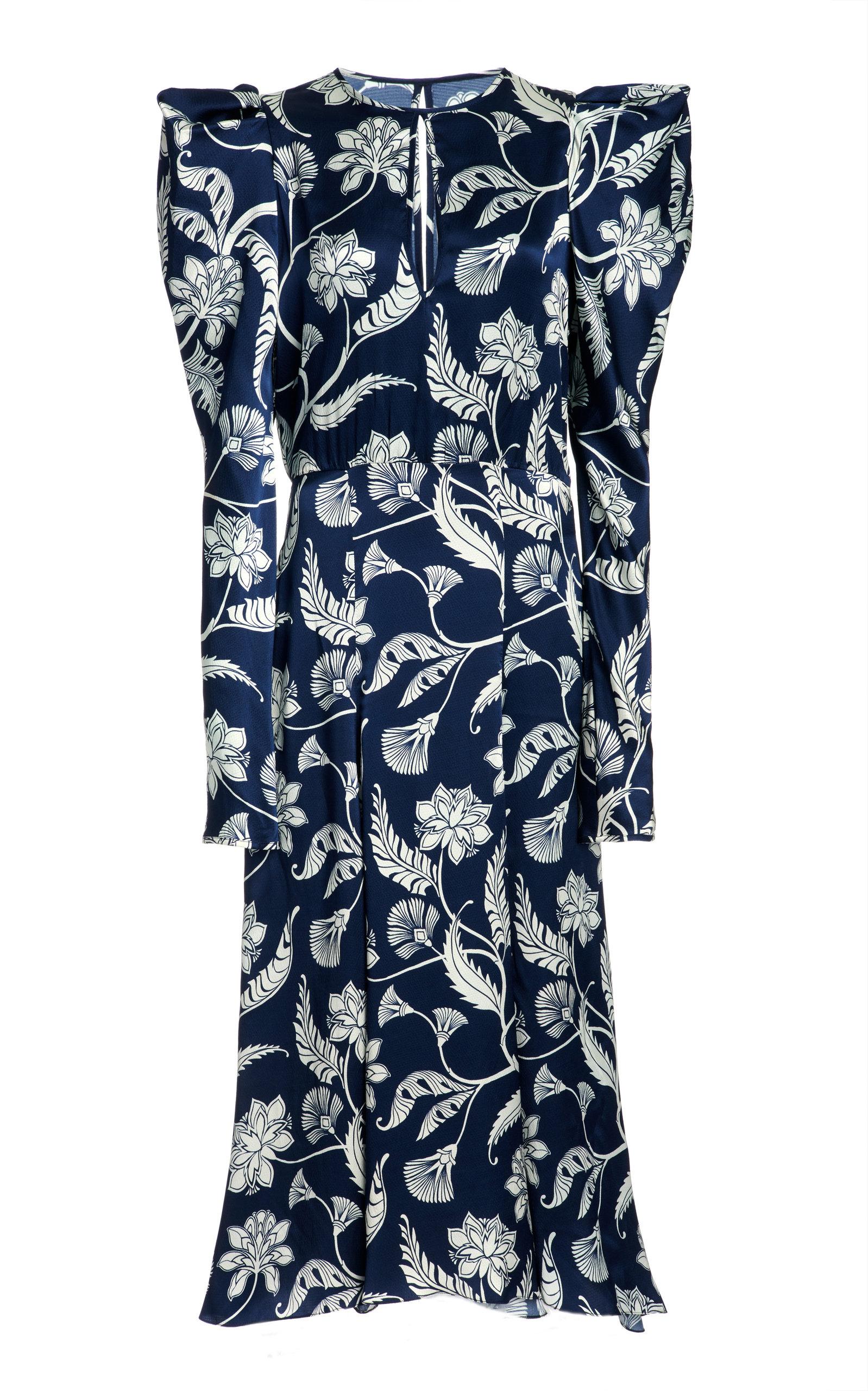 Johanna Ortiz WILD BLUE WONDER PRINTED SILK DRESS