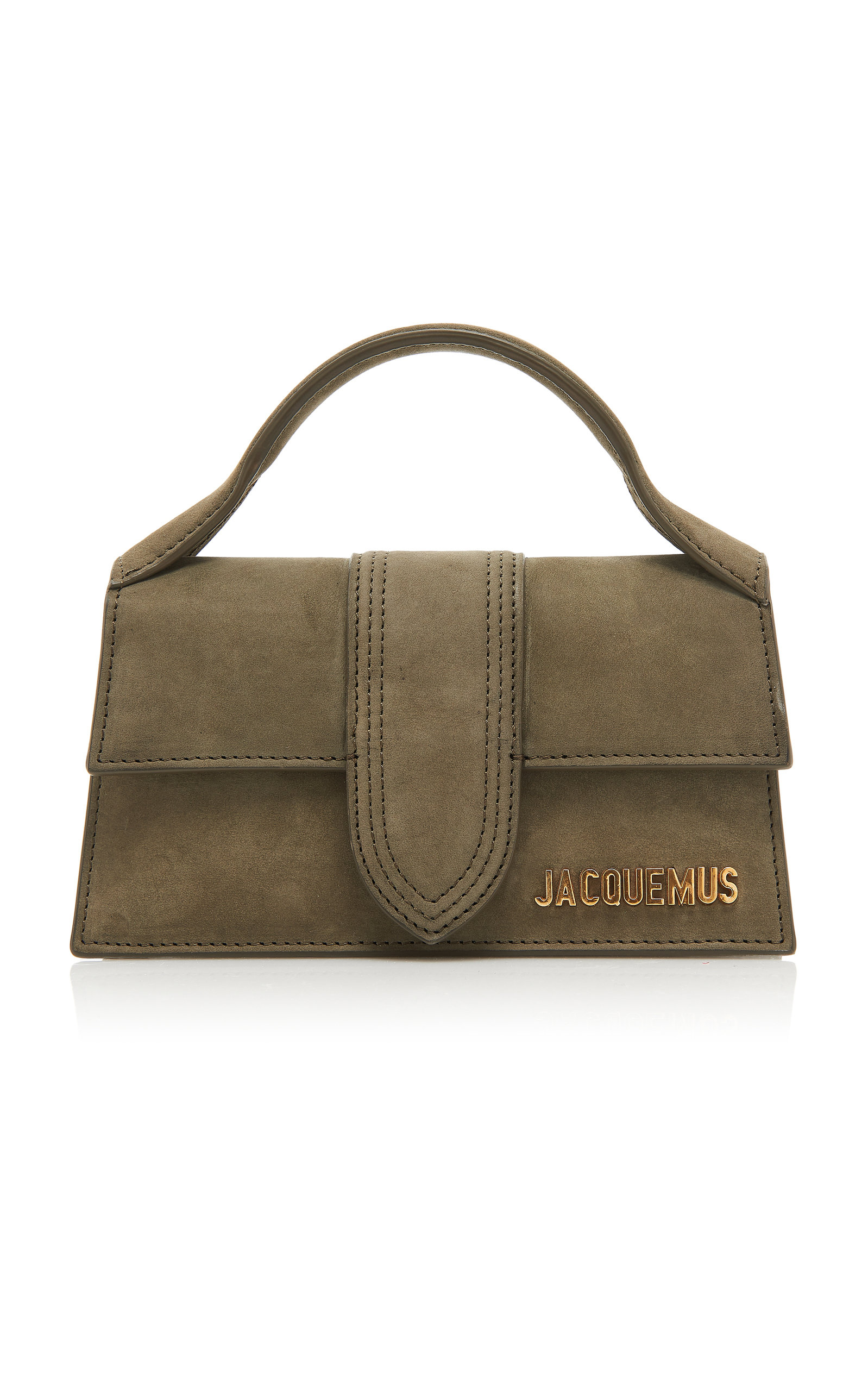 Jacquemus LE BAMBINO SUEDE TOP HANDLE BAG