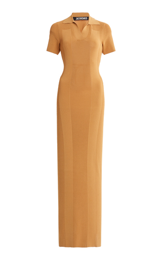 Jacquemus Stretch-knit Maxi Dress In Yellow