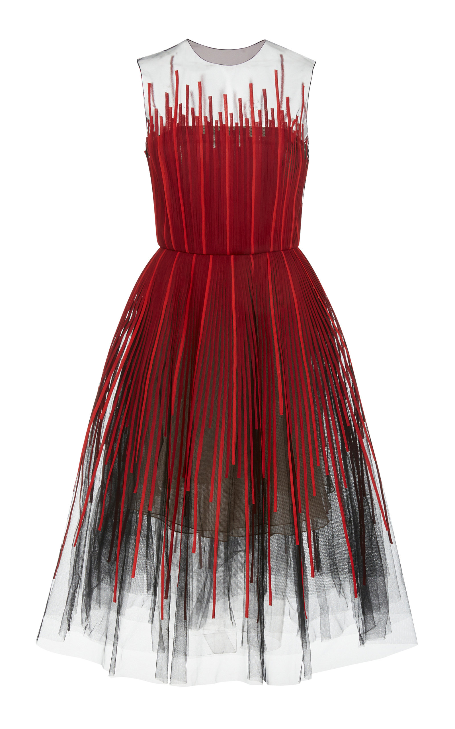 Buy Oscar de la Renta Embroidered Tulle Cocktail Dress online, shop Oscar de la Renta at the best price