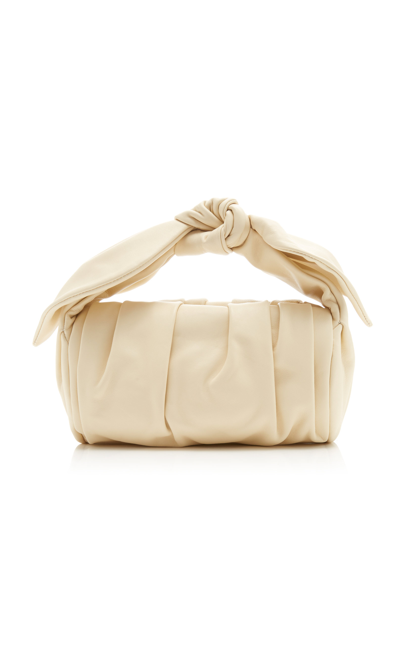 Rejina Pyo NANE GATHERED KNOTTED LEATHER TOP HANDLE BAG