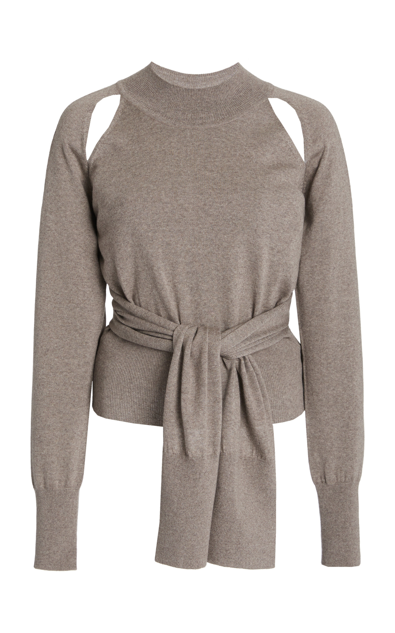Rejina Pyo MORGAN CUTOUT TIE-FRONT WOOL SWEATER