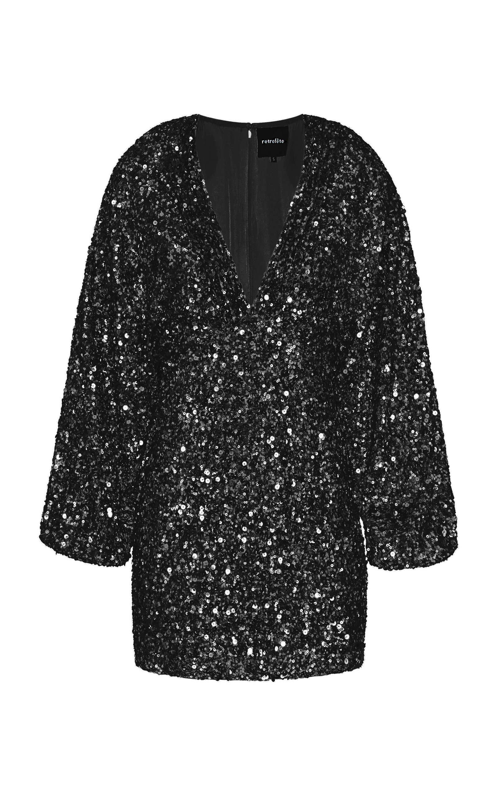 Retroféte AUBRIELLE SEQUIN-EMBELLISHED MINI DRESS