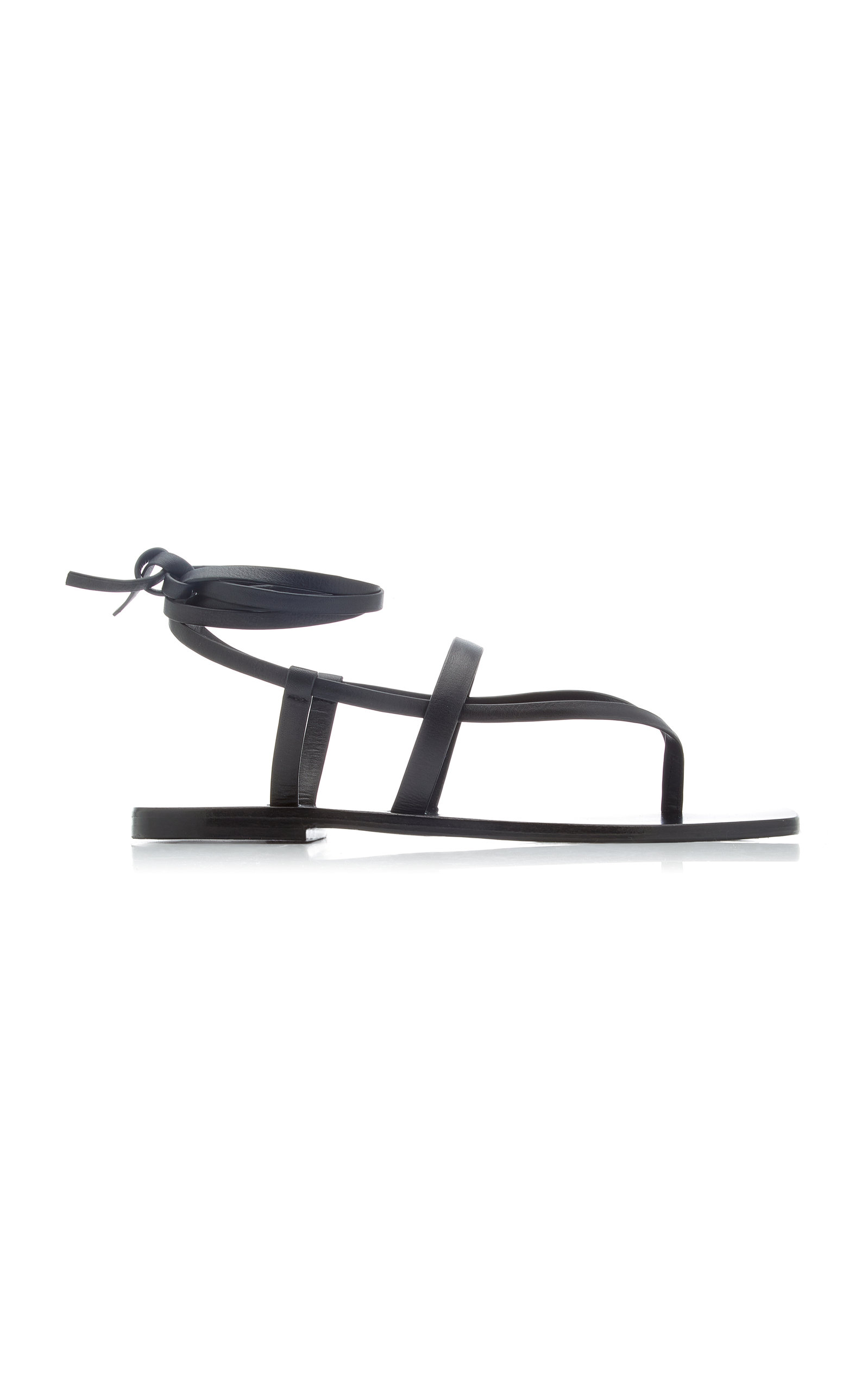 Women's James Snake-Effect Leather Sandals