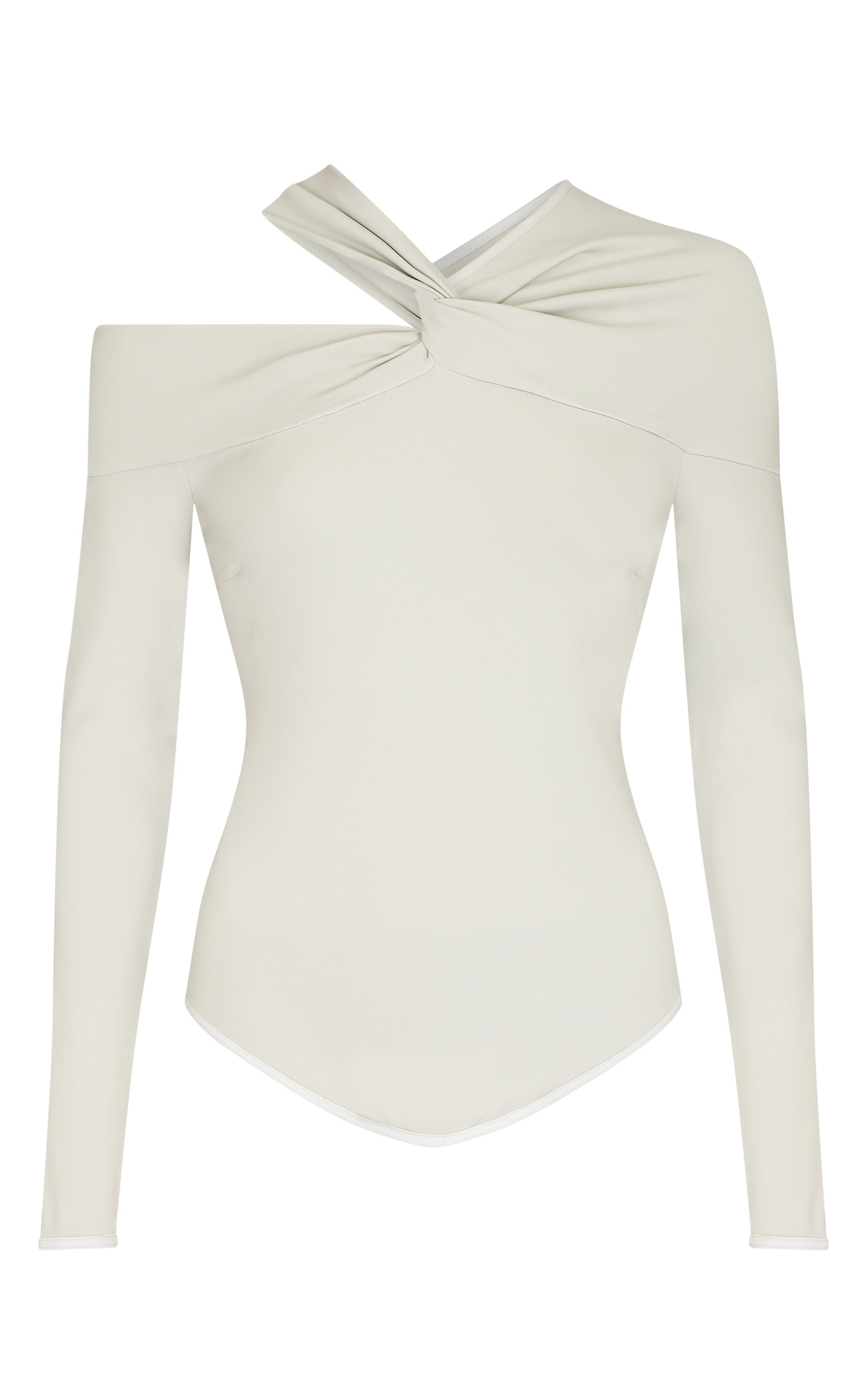 Safiyaa BAYLEE TWIST-DETAILED JERSEY BODYSUIT