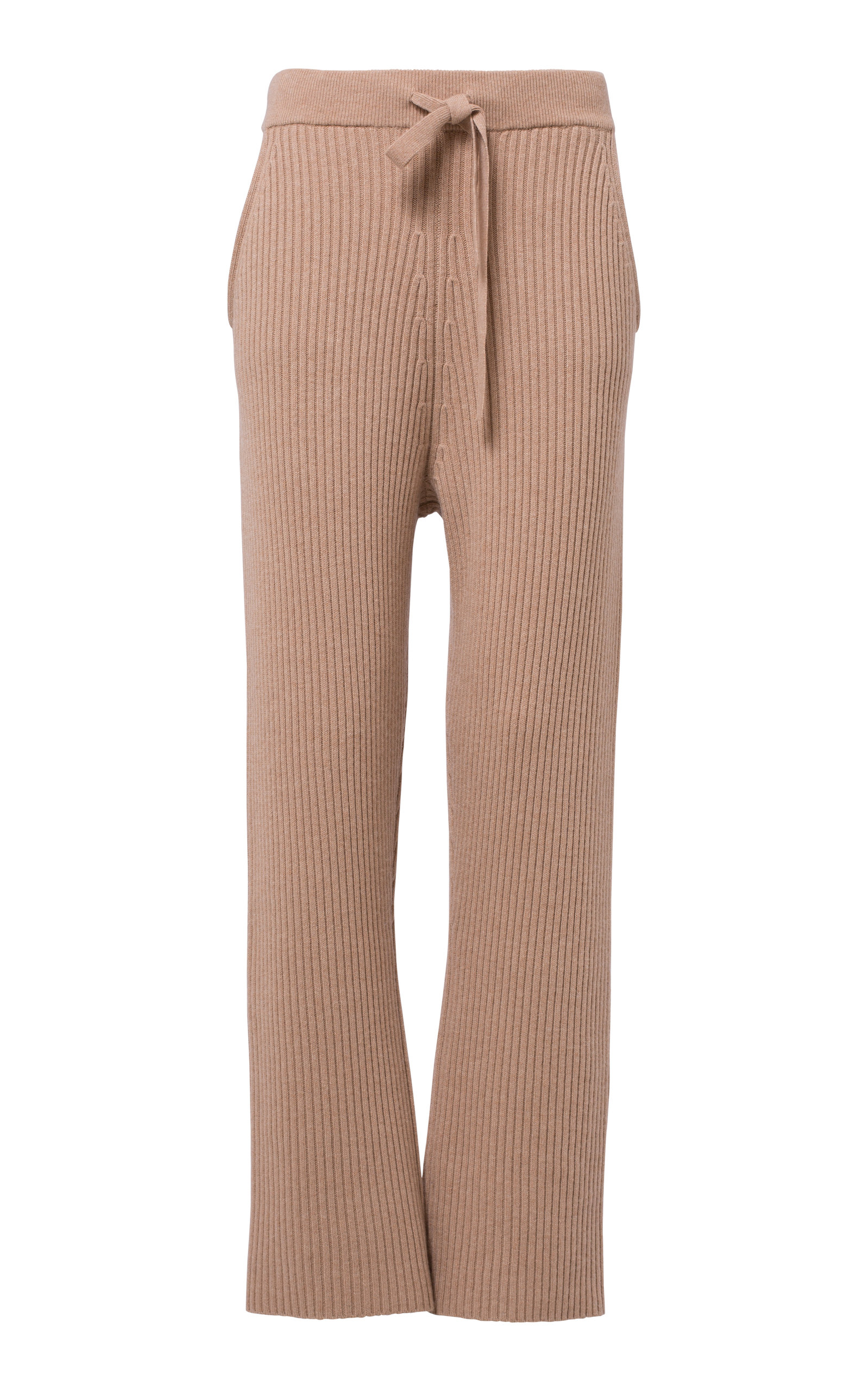 DOROTHEE SCHUMACHER DECONSTRUCTED LOOK RIBBED-KNIT PANTS