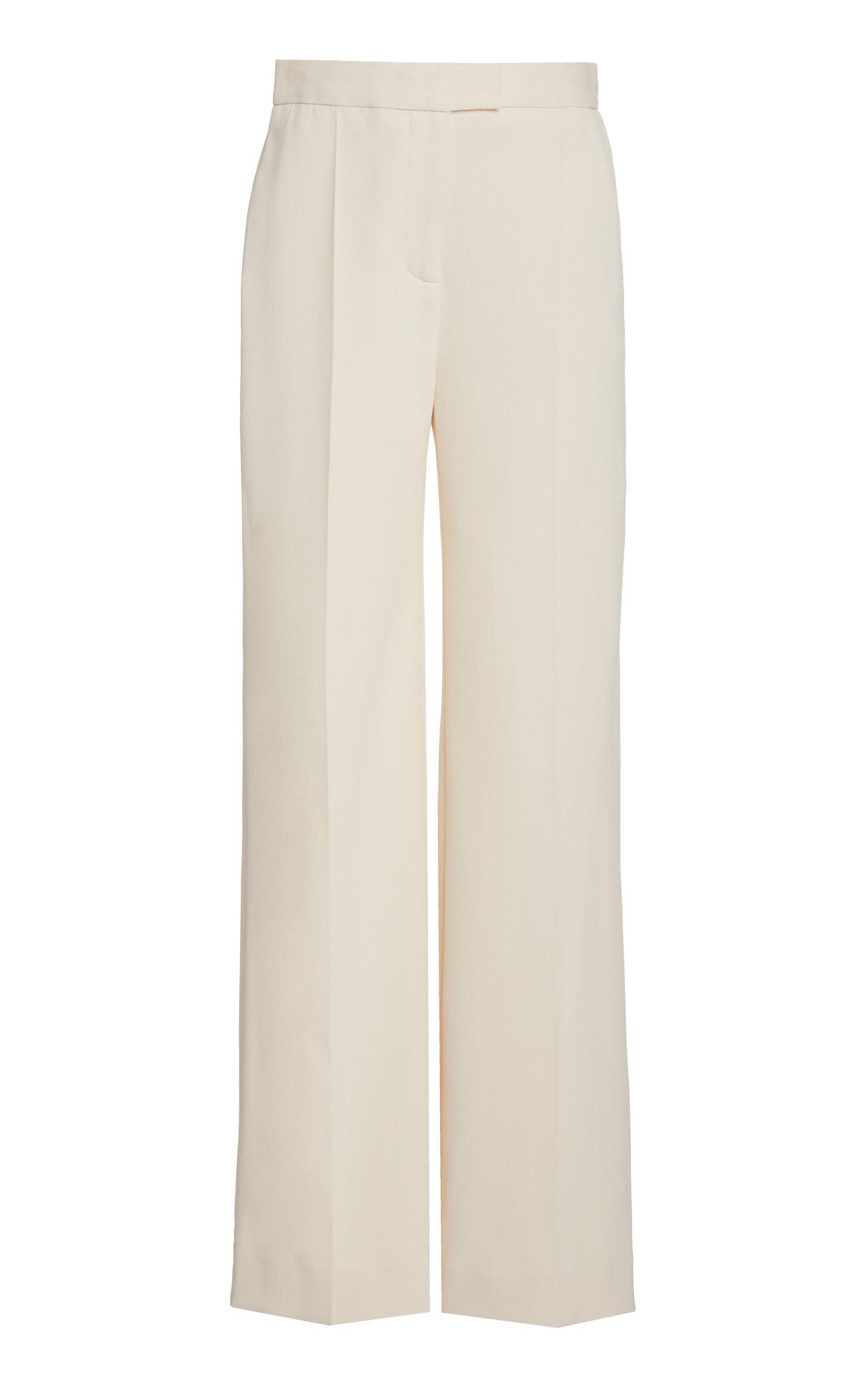 Victoria Victoria Beckham HIGH-WAIST STRAIGHT-LEG CREPE PANTS