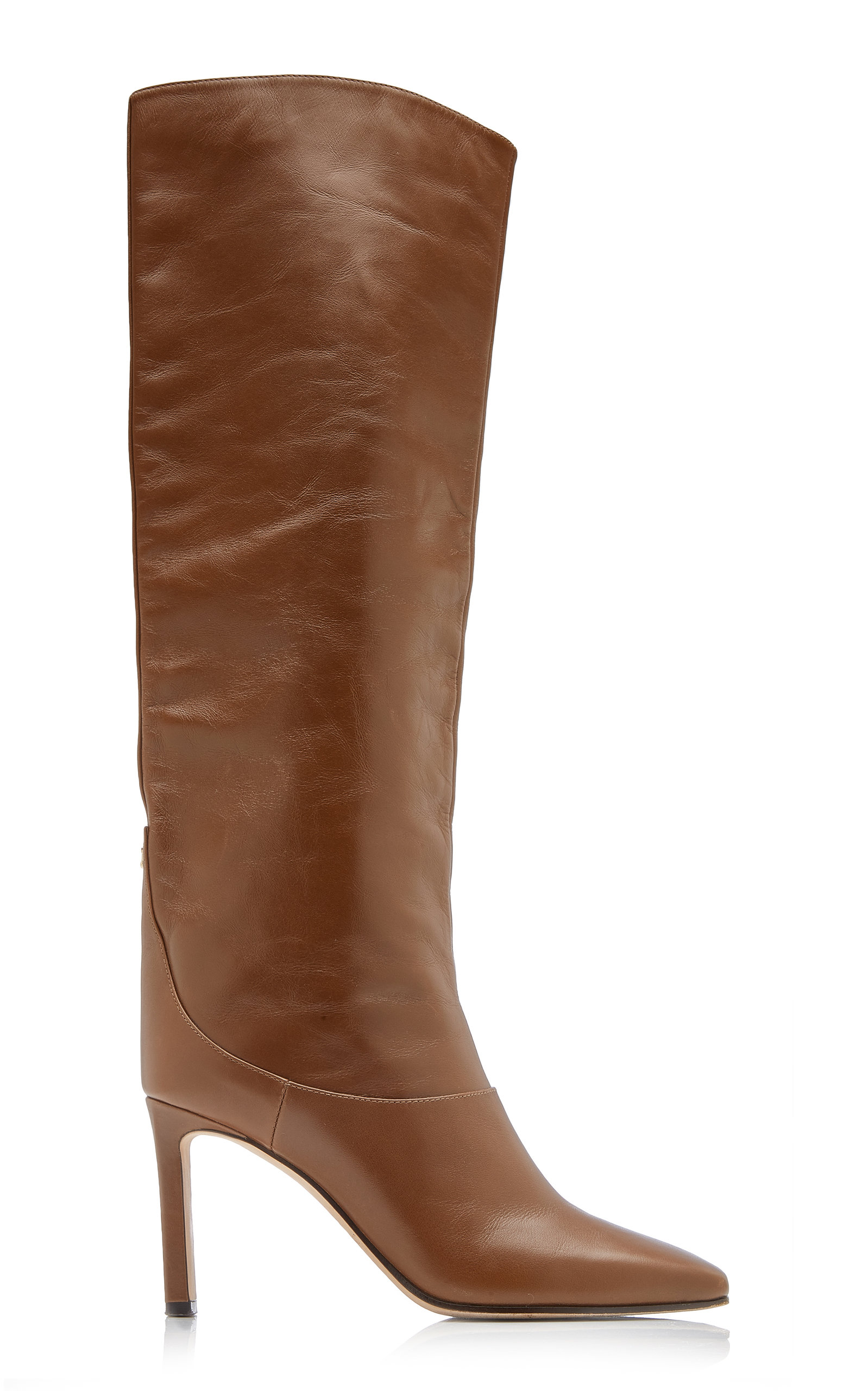 Jimmy Choo Leathers MAHESA LEATHER TALL BOOT