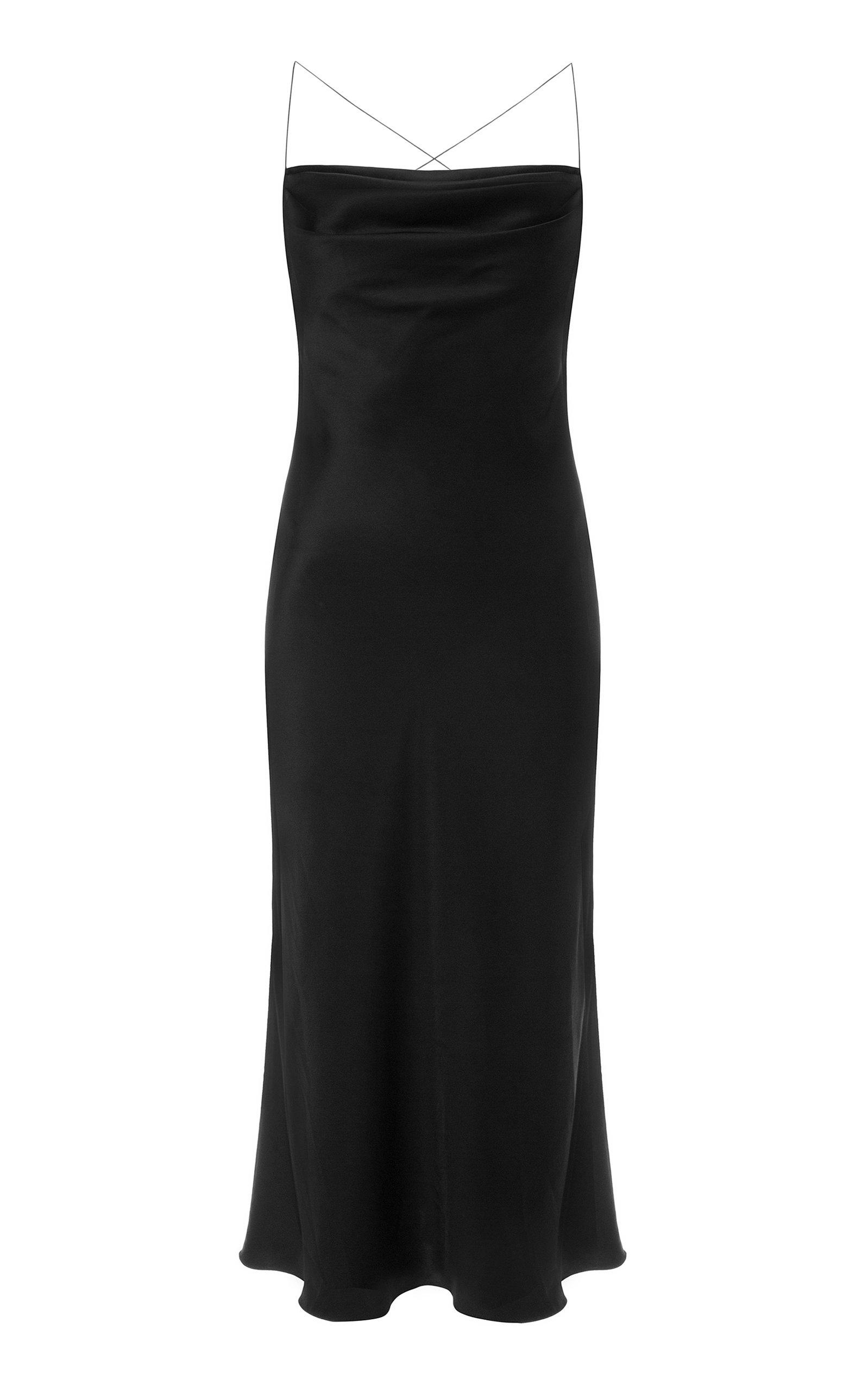 Buy Anna October Dasha Open-Back Satin Dress online, shop Anna October at the best price