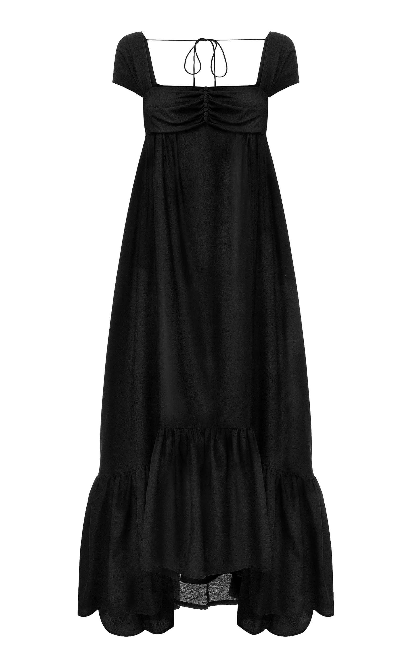 Buy Anna October Yelena Crepe de Chine Maxi Trapeze Dress online, shop Anna October at the best price