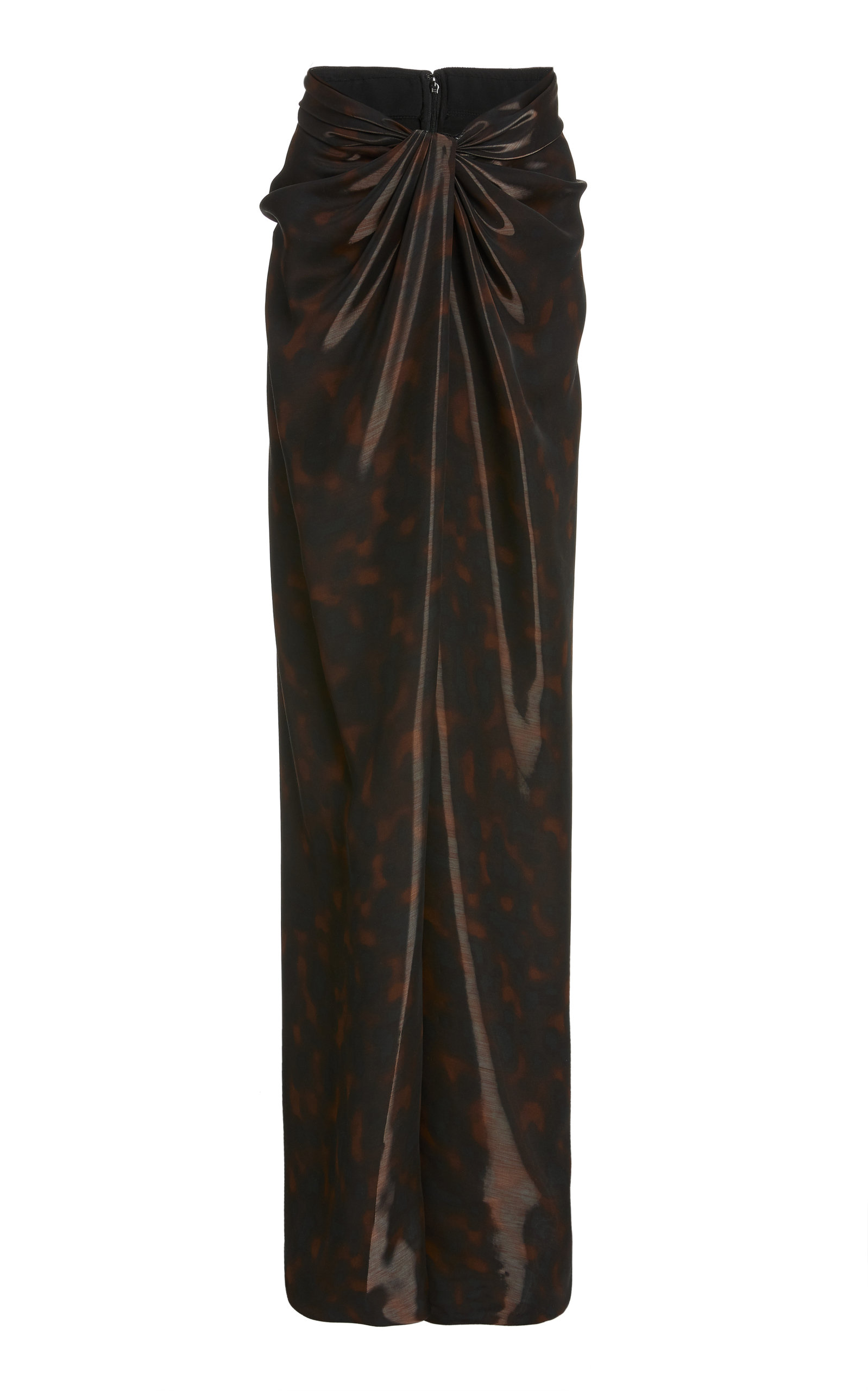 Women's Liquid Tortoiseshell Wrap-Effect Maxi Skirt