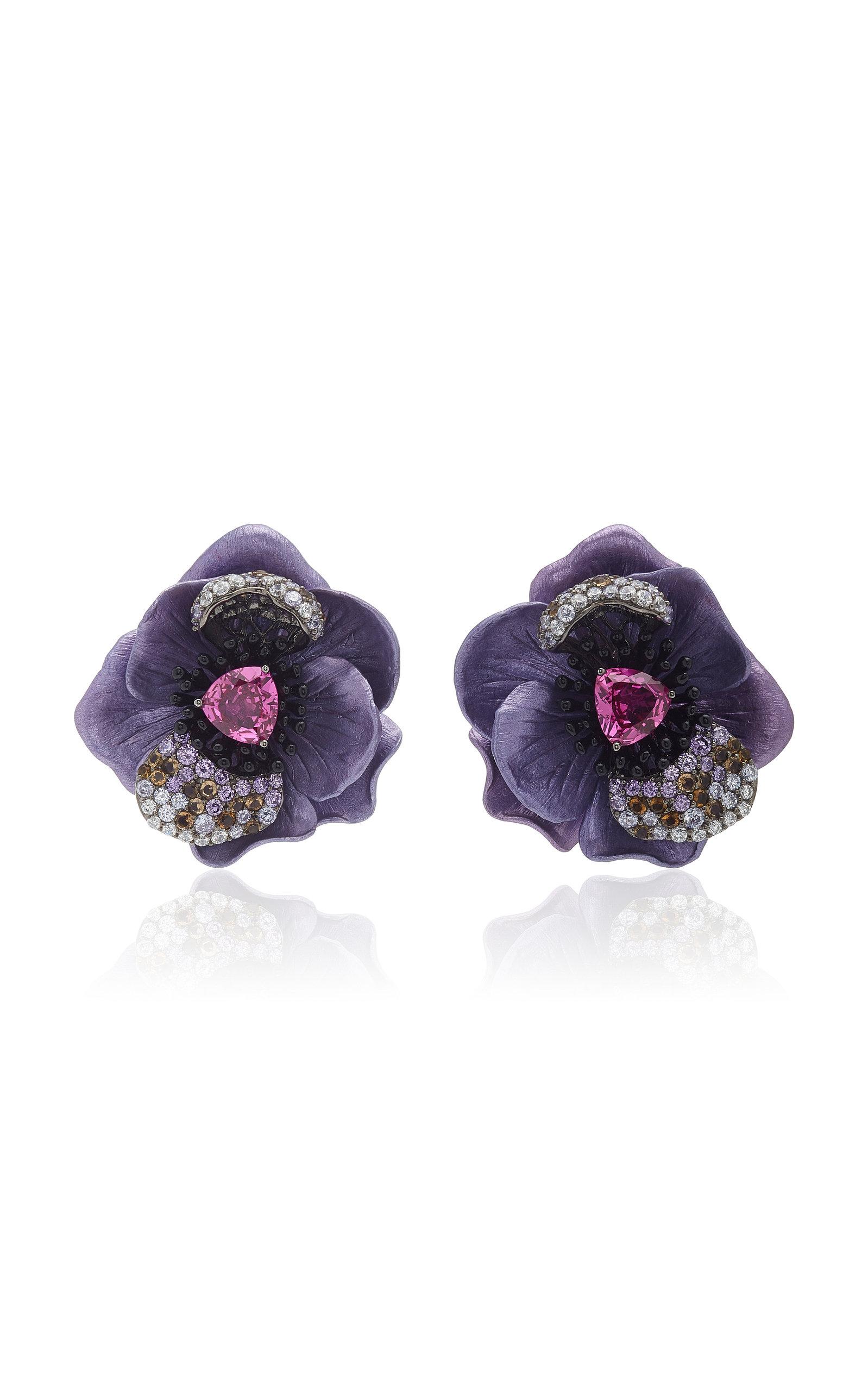 Women's Bloom 18K Yellow Gold Multi-Stone Earrings