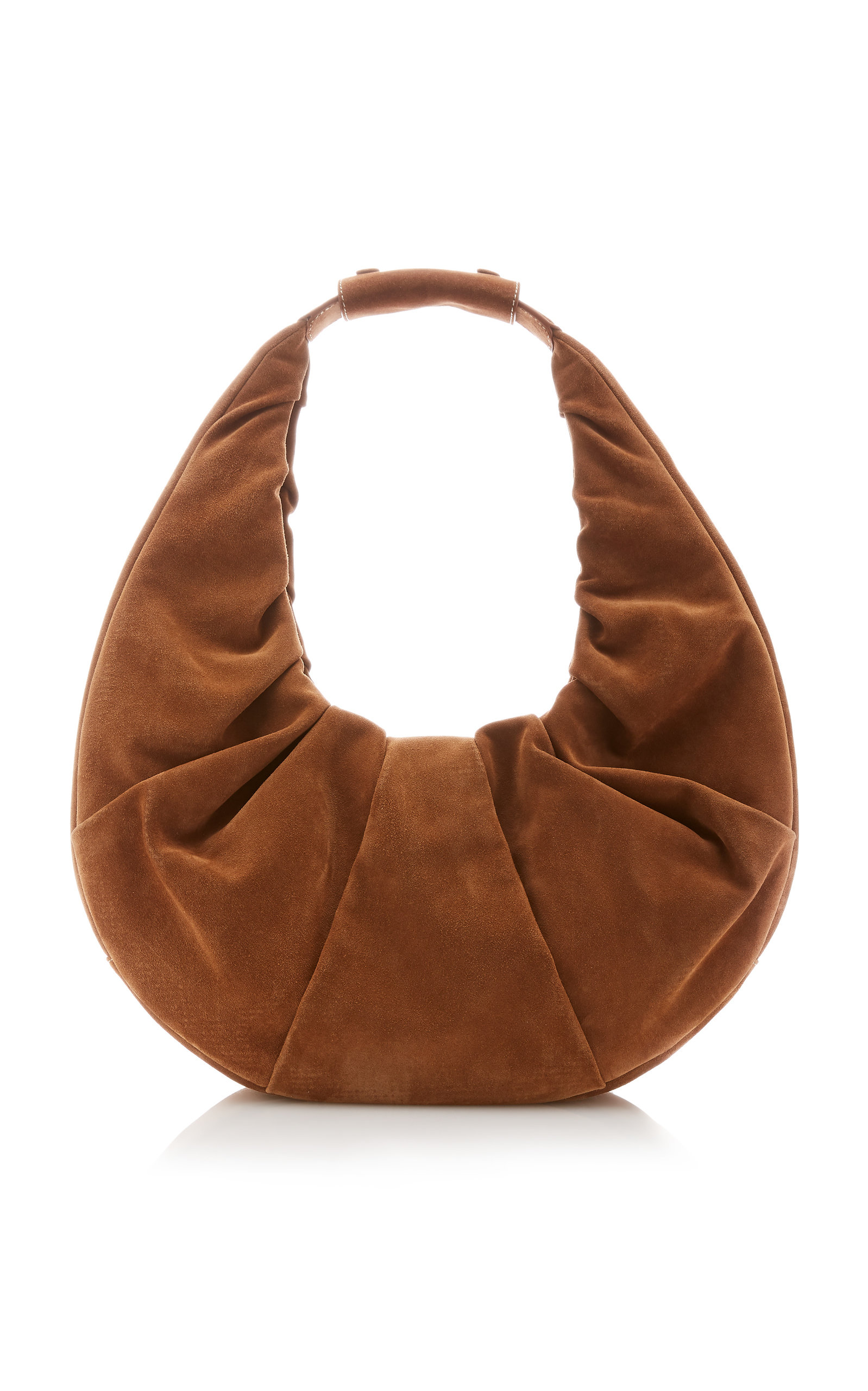 Staud LARGE SOFT MOON SUEDE SHOULDER BAG