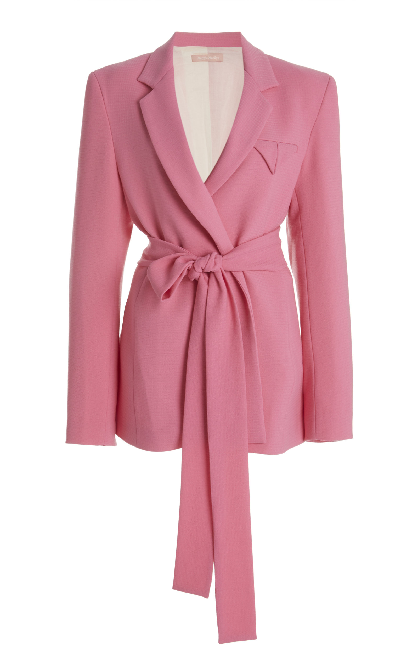 MAGGIE MARILYN HAVE THE FAITH BELTED WOOL BLAZER
