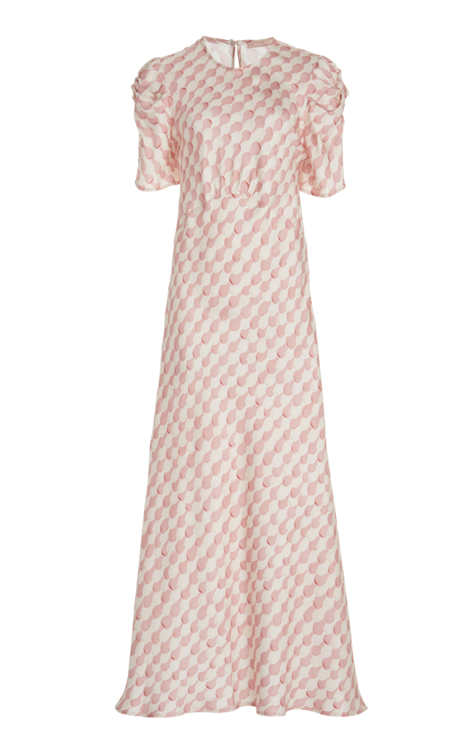 Maggie Marilyn IT'S UP TO YOU PRINTED SILK-SATIN MAXI DRESS