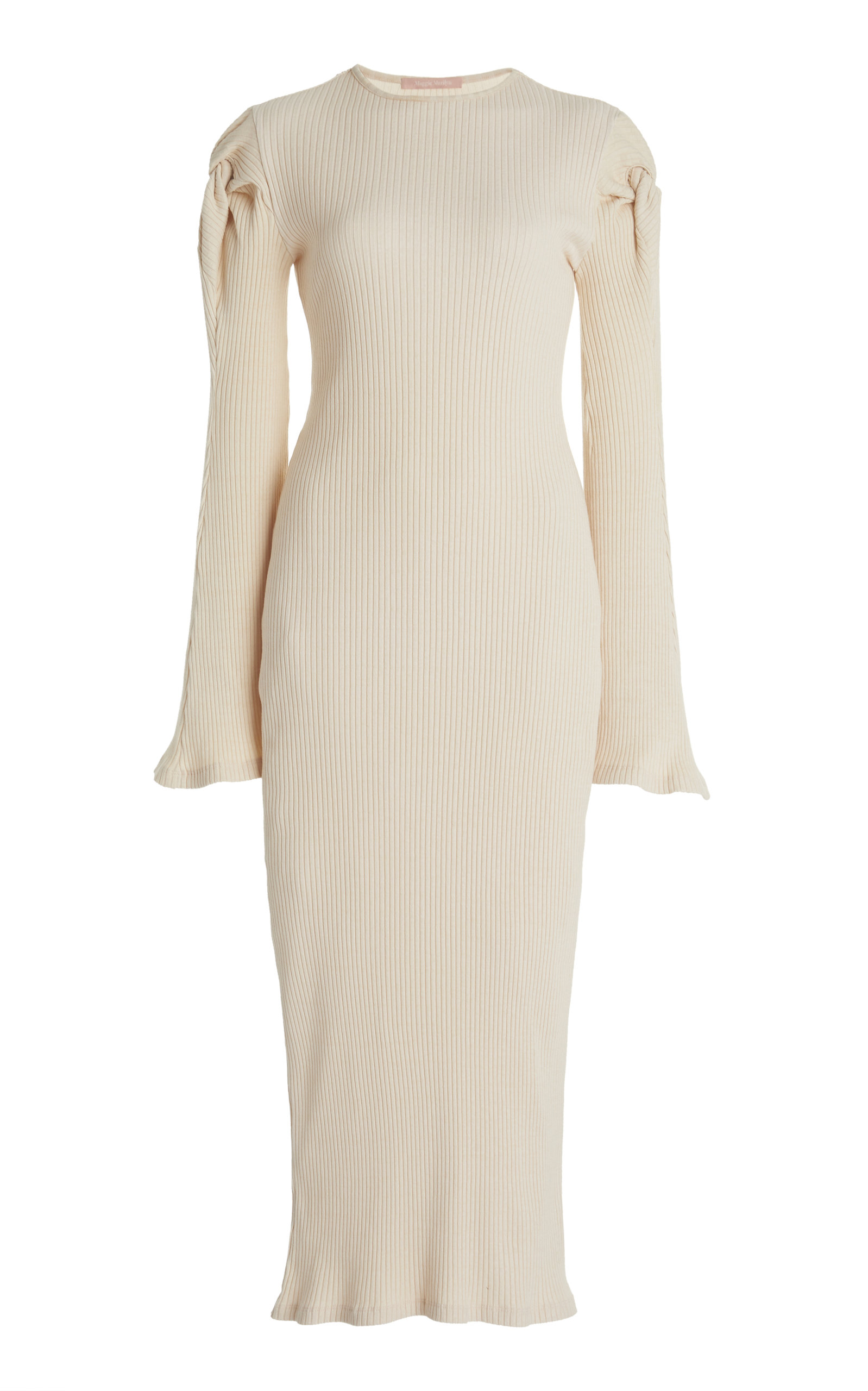 Maggie Marilyn KNOT ON MY WATCH KNOTTED STRETCH-COTTON MIDI DRESS