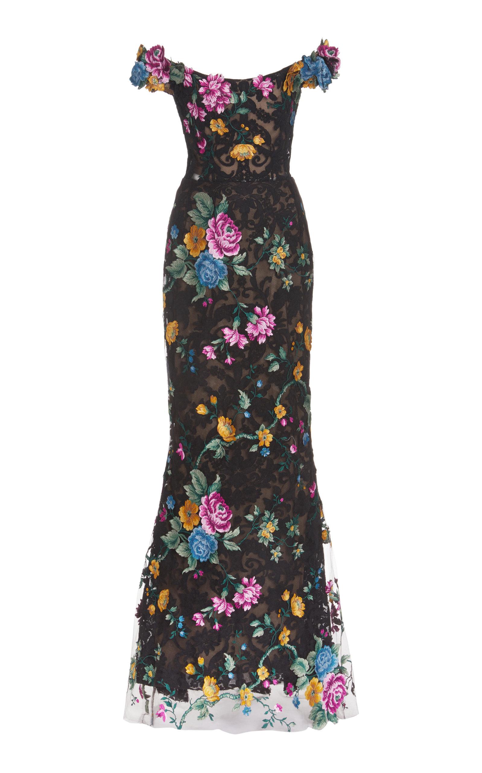 Women's Floral Lace Gown
