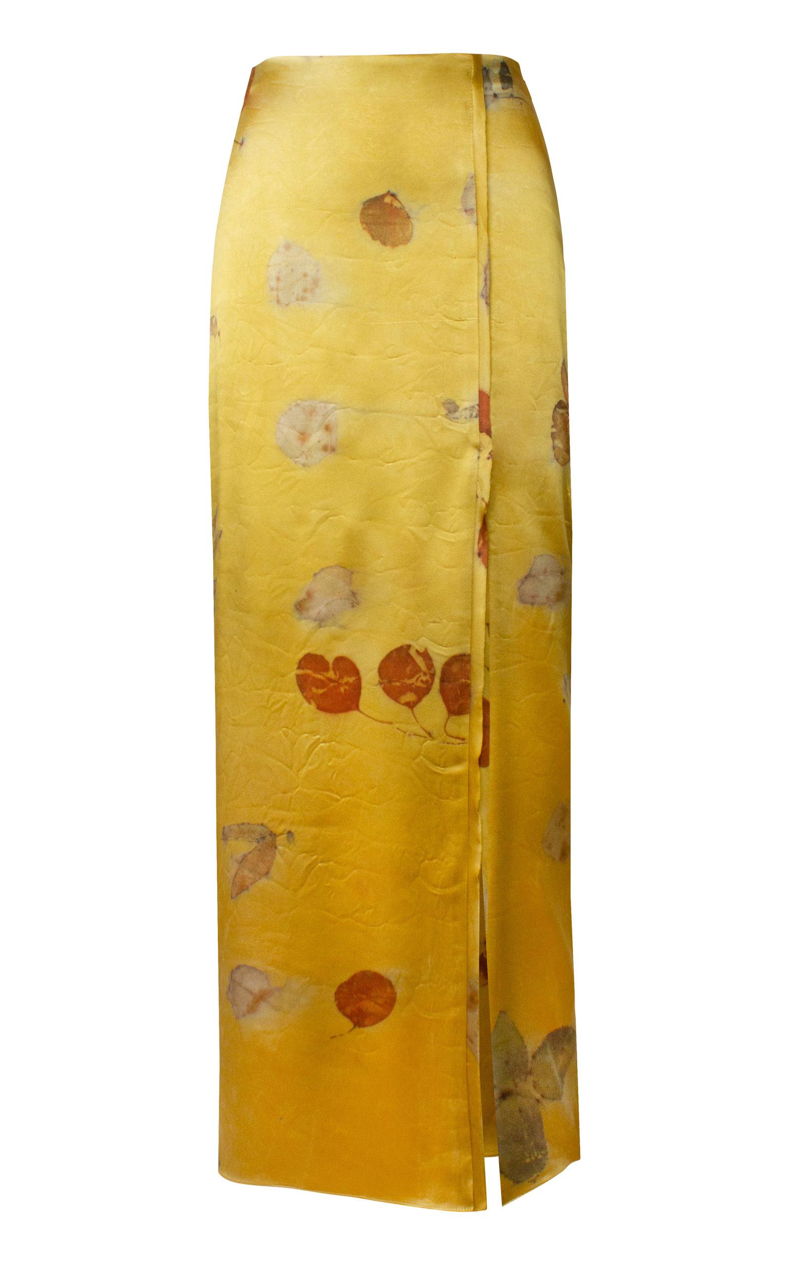 Women's Dyed Silk Pencil Skirt