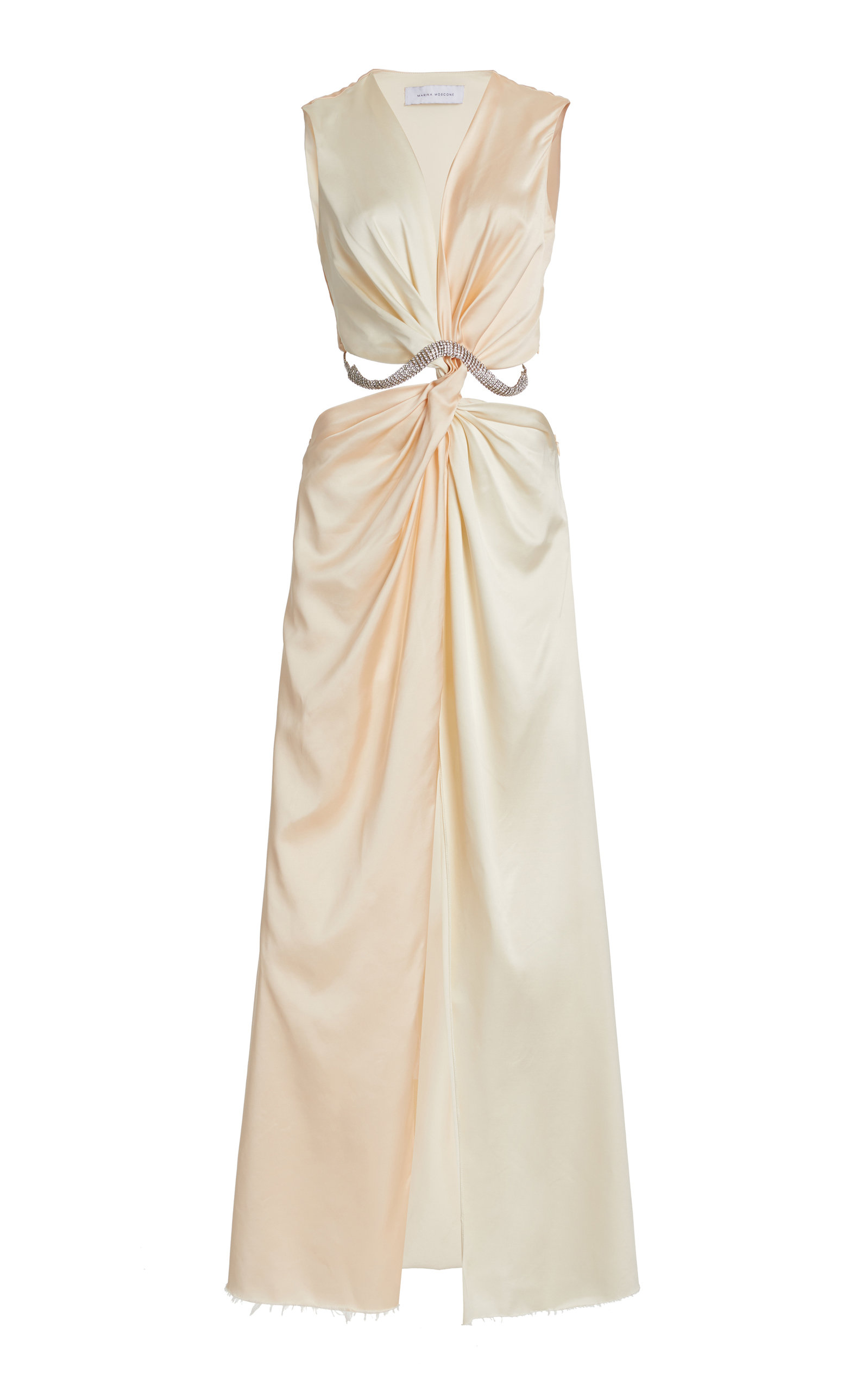 Women's Cutout Twisted Satin Maxi Dress