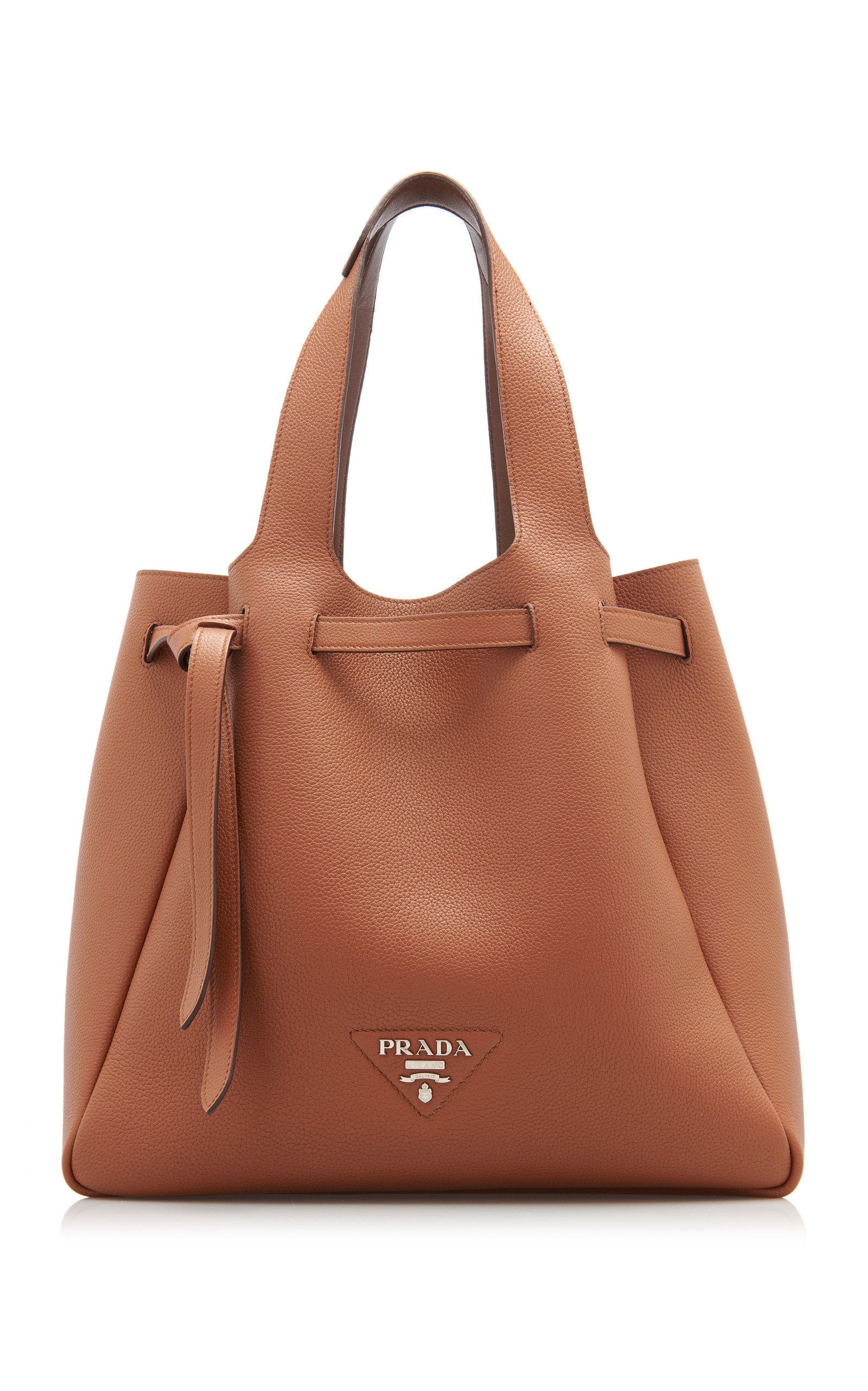 Prada LEATHER DRAWSTRING TOTE