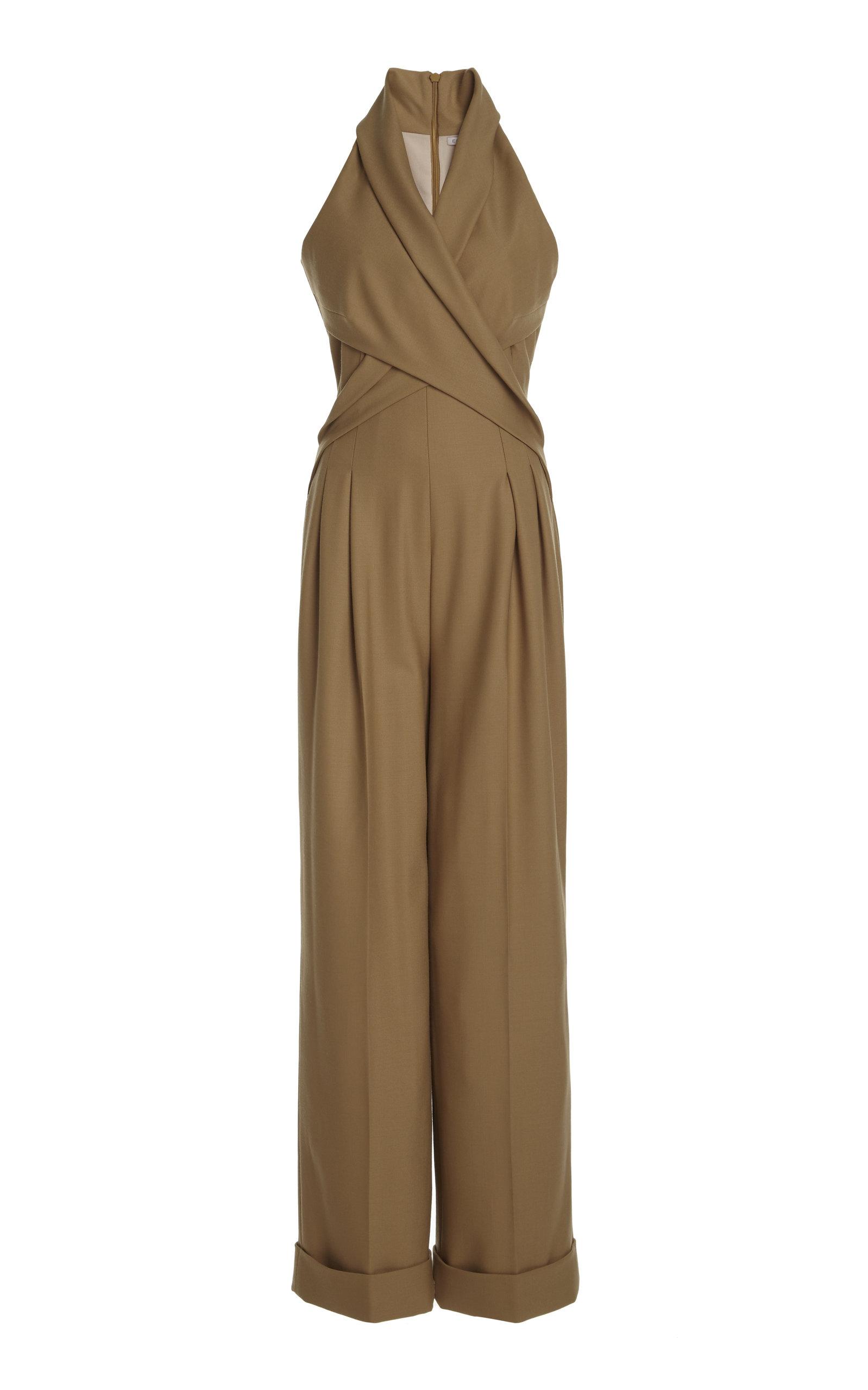Women's Gregoria Wrap-Effect Cady Jumpsuit