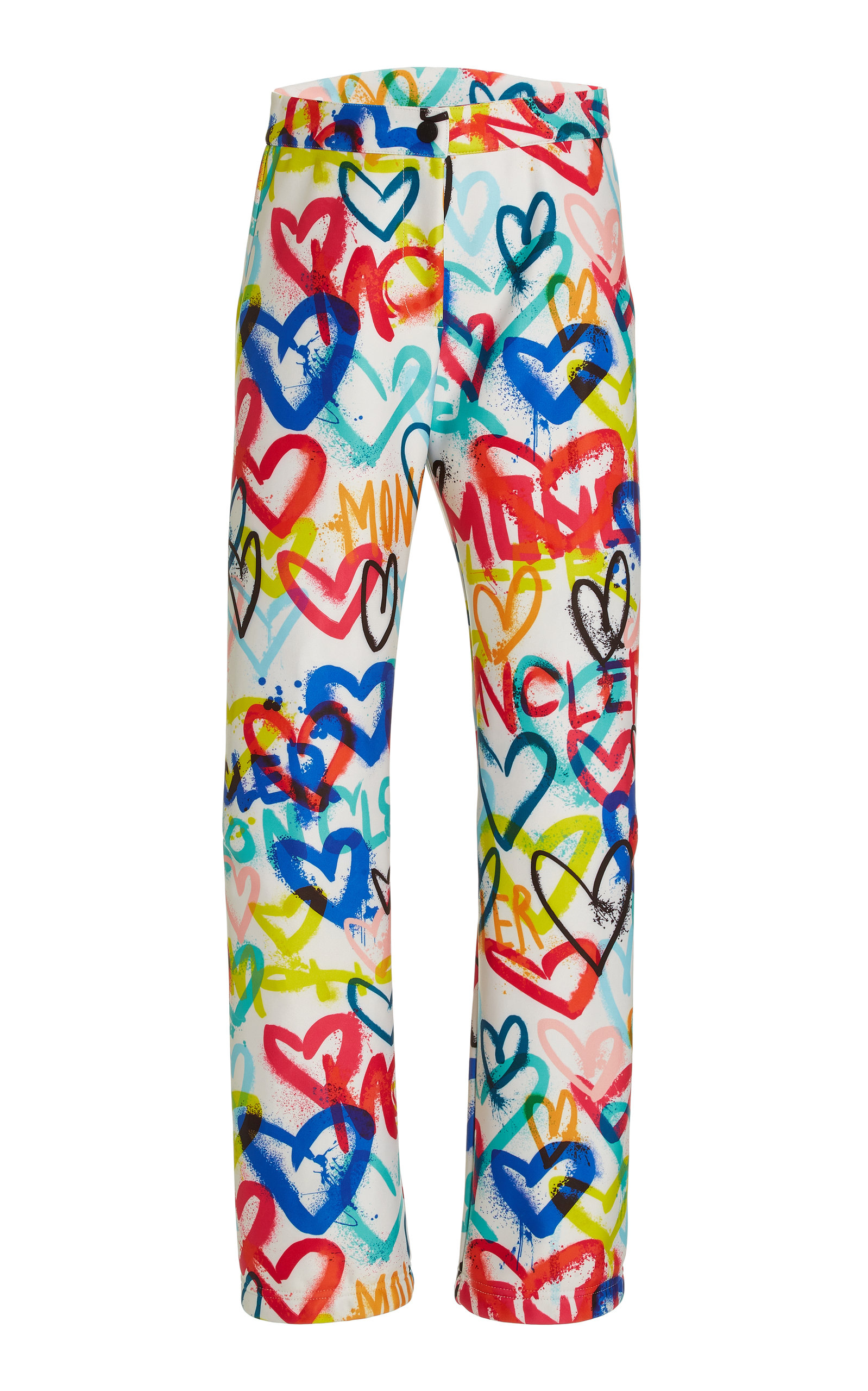Moncler Genius 3 MONCLER GRENOBLE HEART-PRINT SHELL SKI PANTS