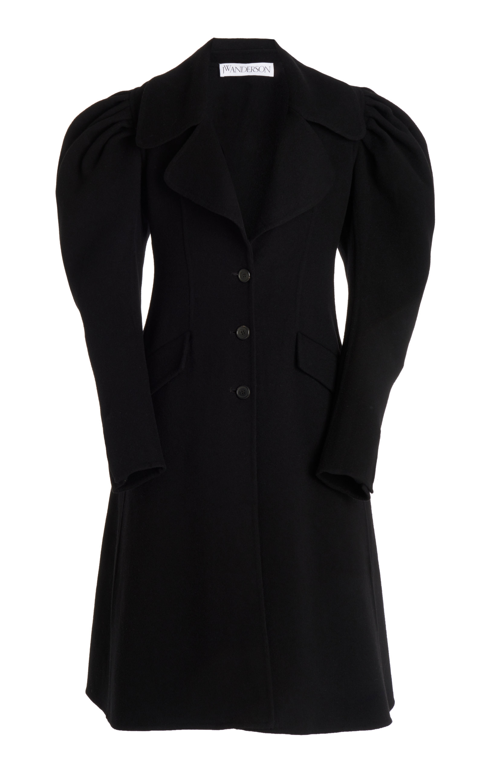 Jw Anderson Downs SHOULDER-PLEAT WOOL COAT