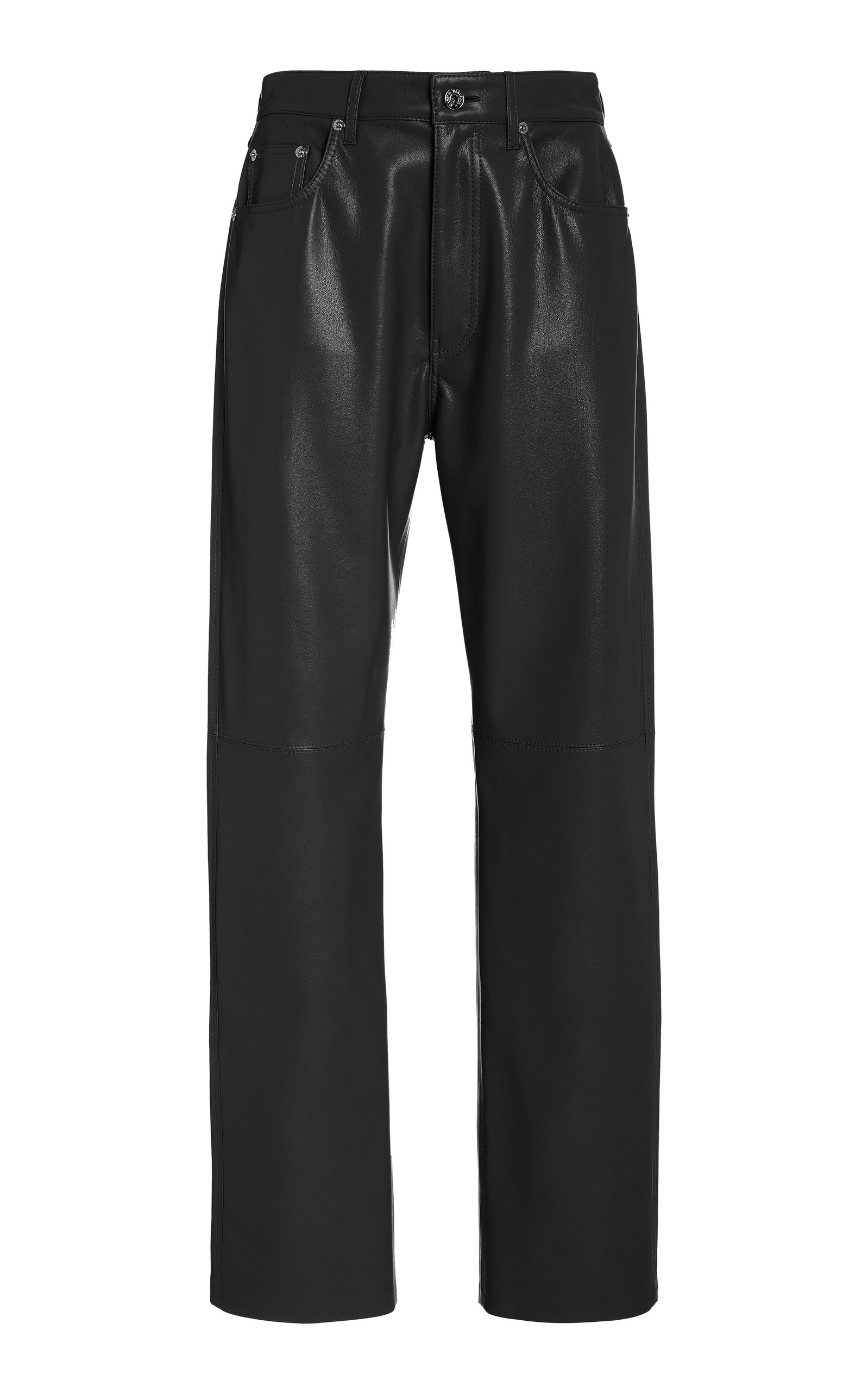 Nanushka VINNI VEGAN LEATHER STRAIGHT-LEG PANTS