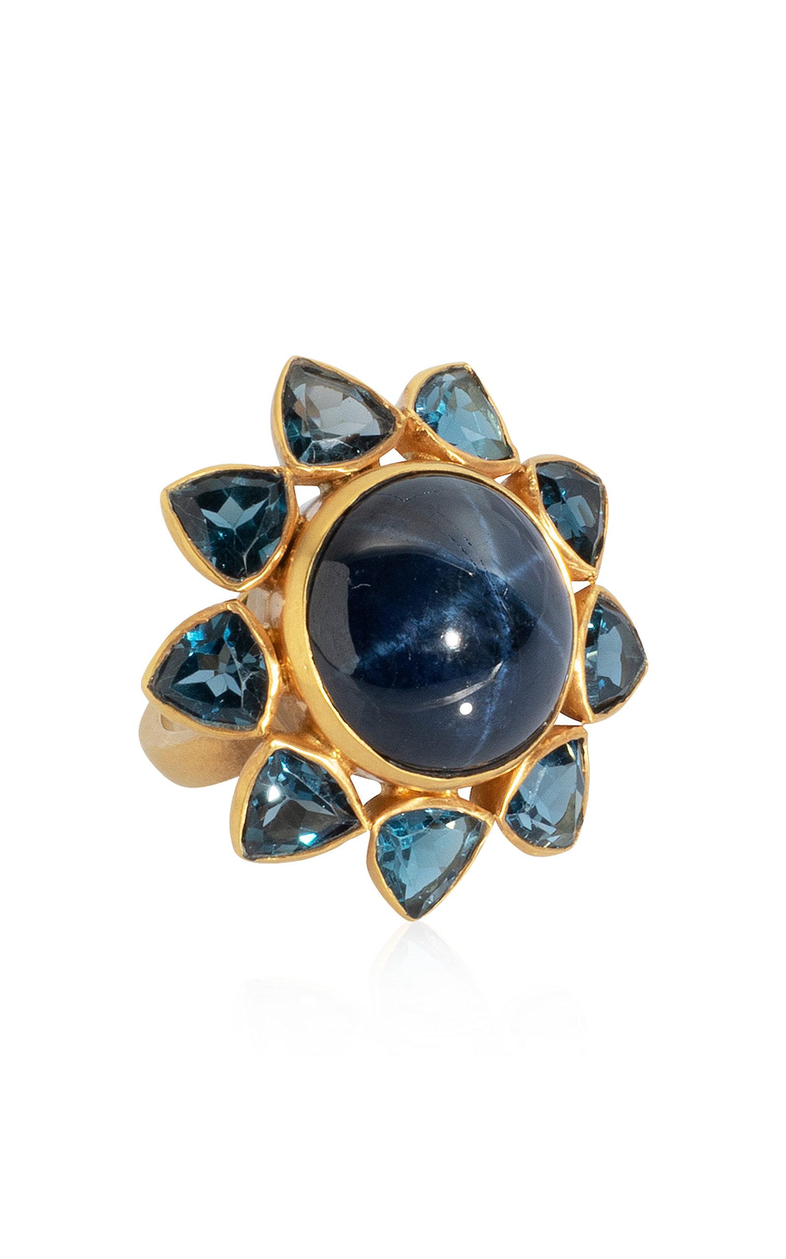 Women's Sapphire; Topaz 18K Yellow Gold Ring