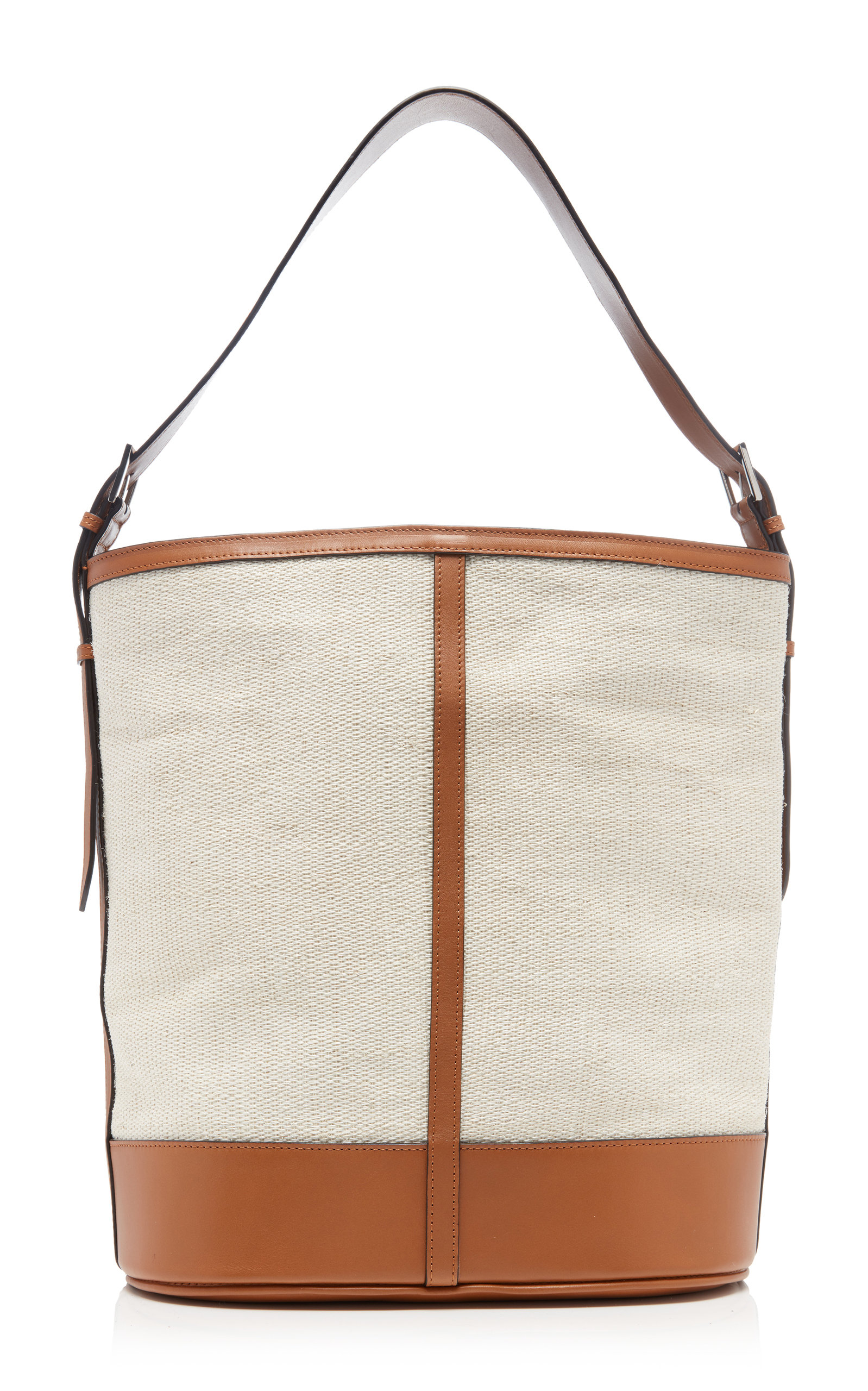 Hunting Season Canvases LEATHER-TRIMMED FIQUE AND CANVAS TOTE BAG