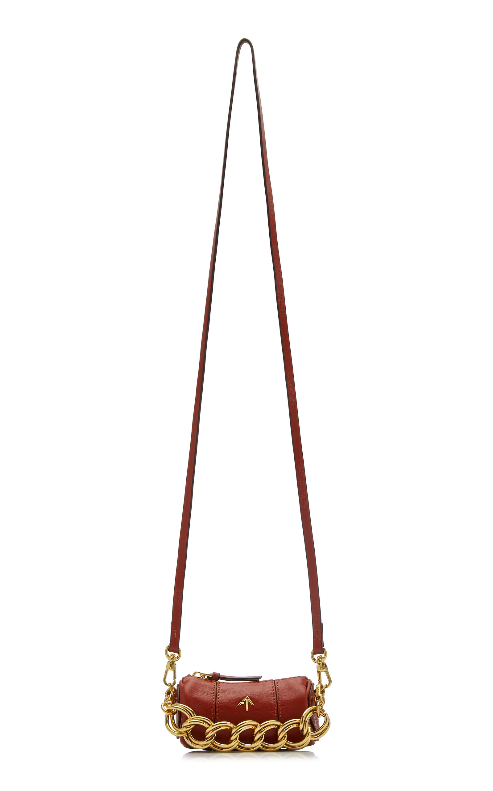 Manu Atelier MICRO CYLINDER LEATHER SHOULDER BAG