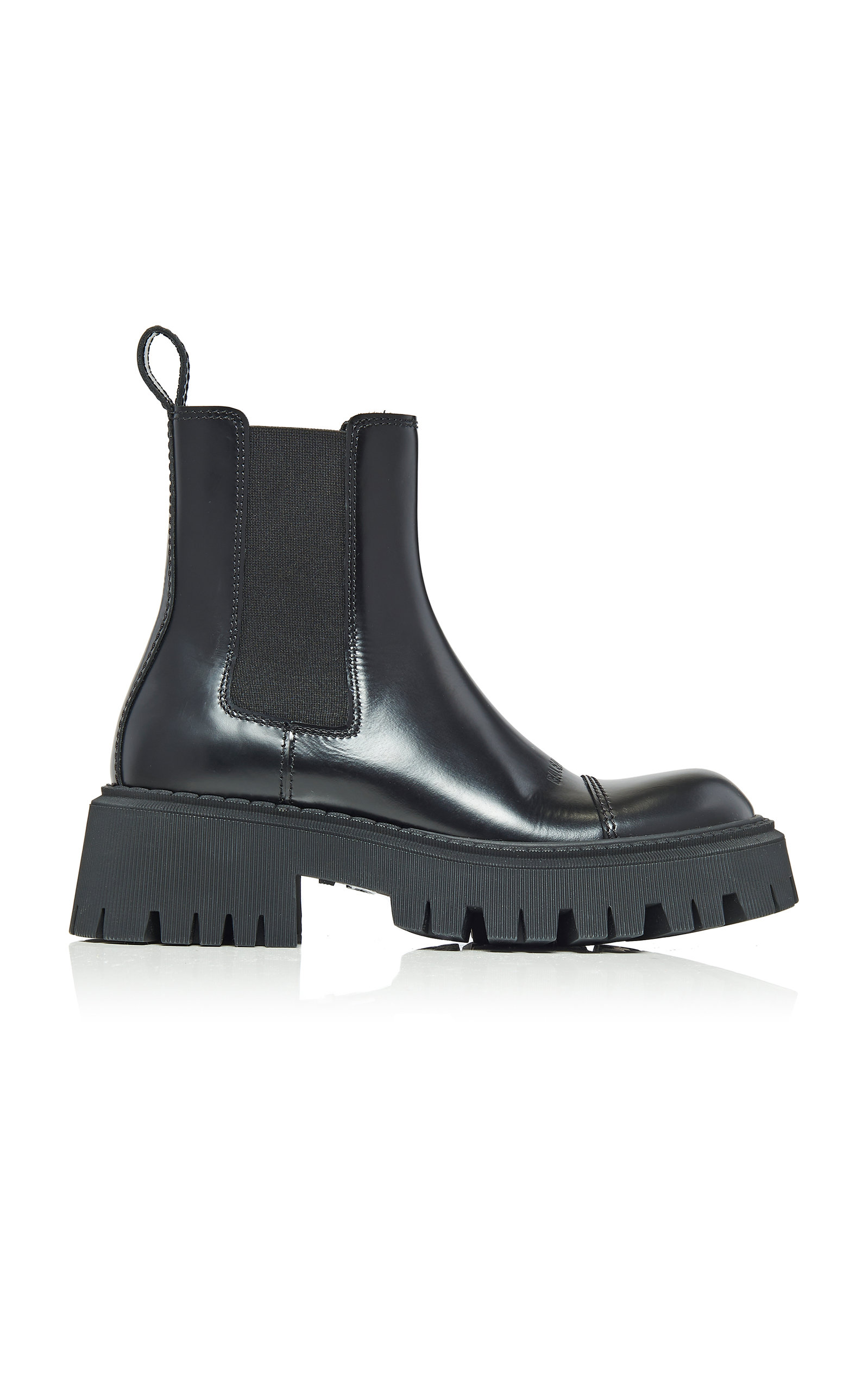 Balenciaga Leathers TRACTOR LEATHER PLATFORM ANKLE BOOTS